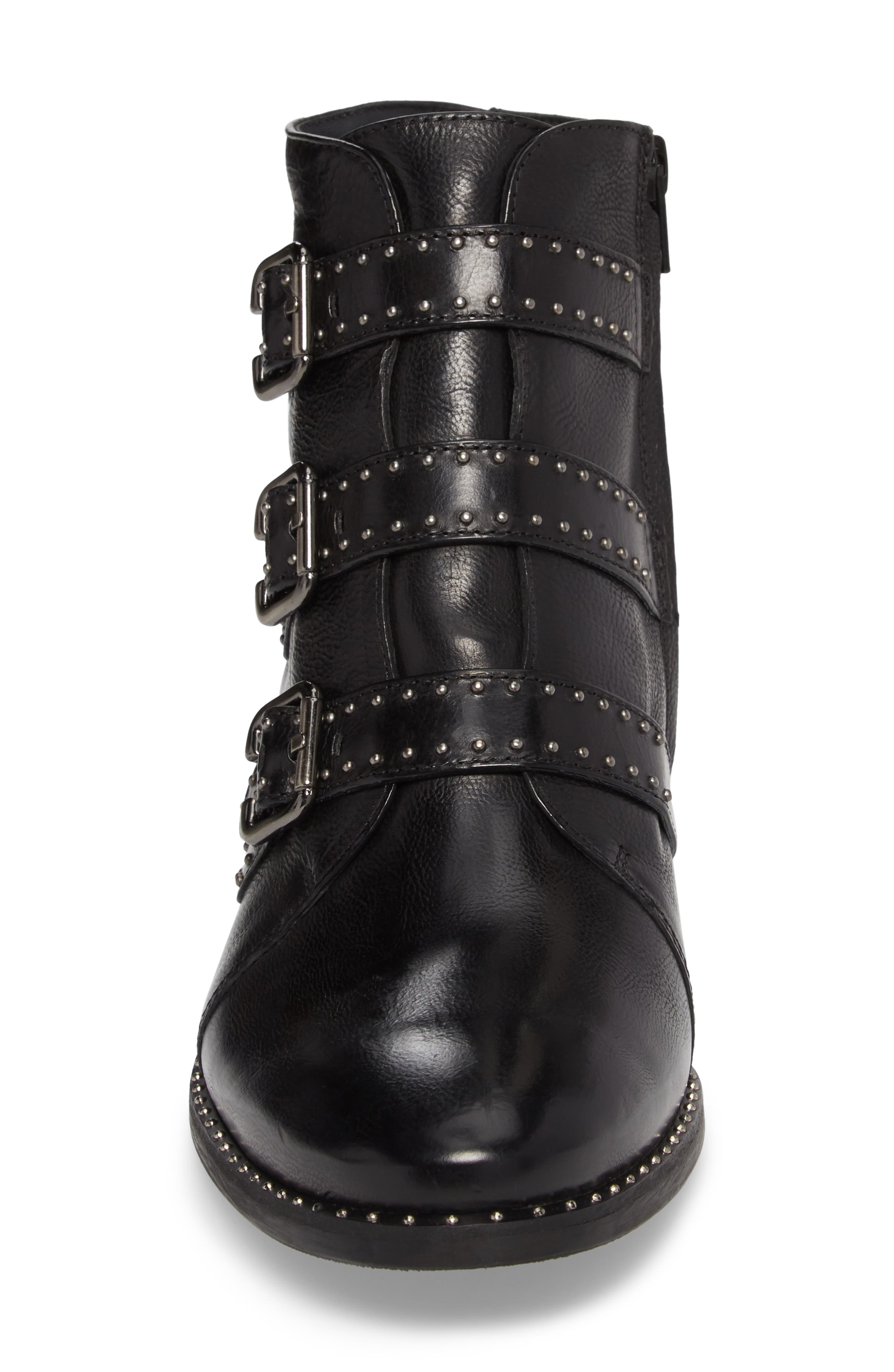 PAUL GREEN, Soho Bootie, Alternate thumbnail 4, color, BLACK LEATHER