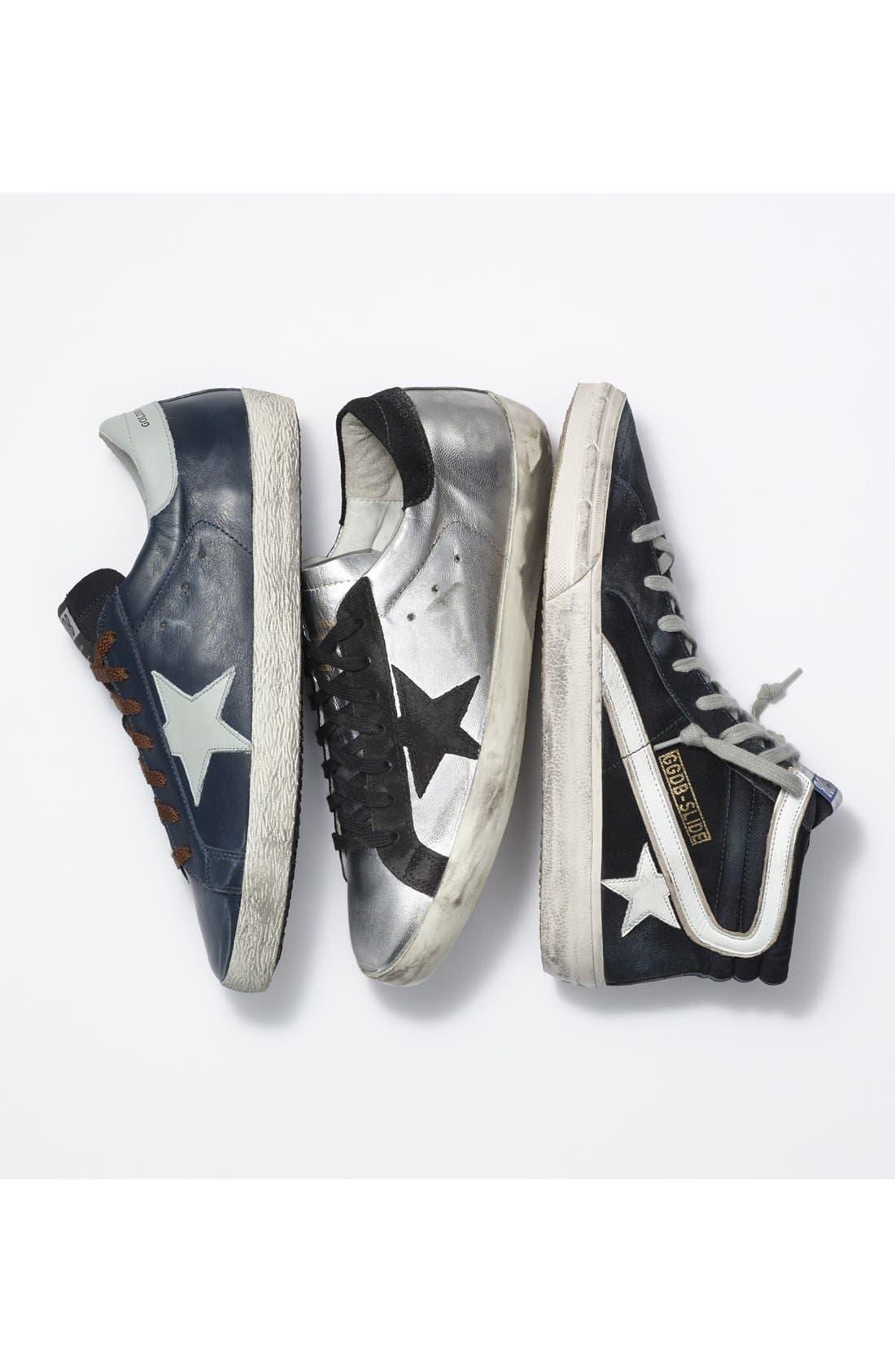 GOLDEN GOOSE, 'Slide' Sneaker, Alternate thumbnail 7, color, NAVY DENIM