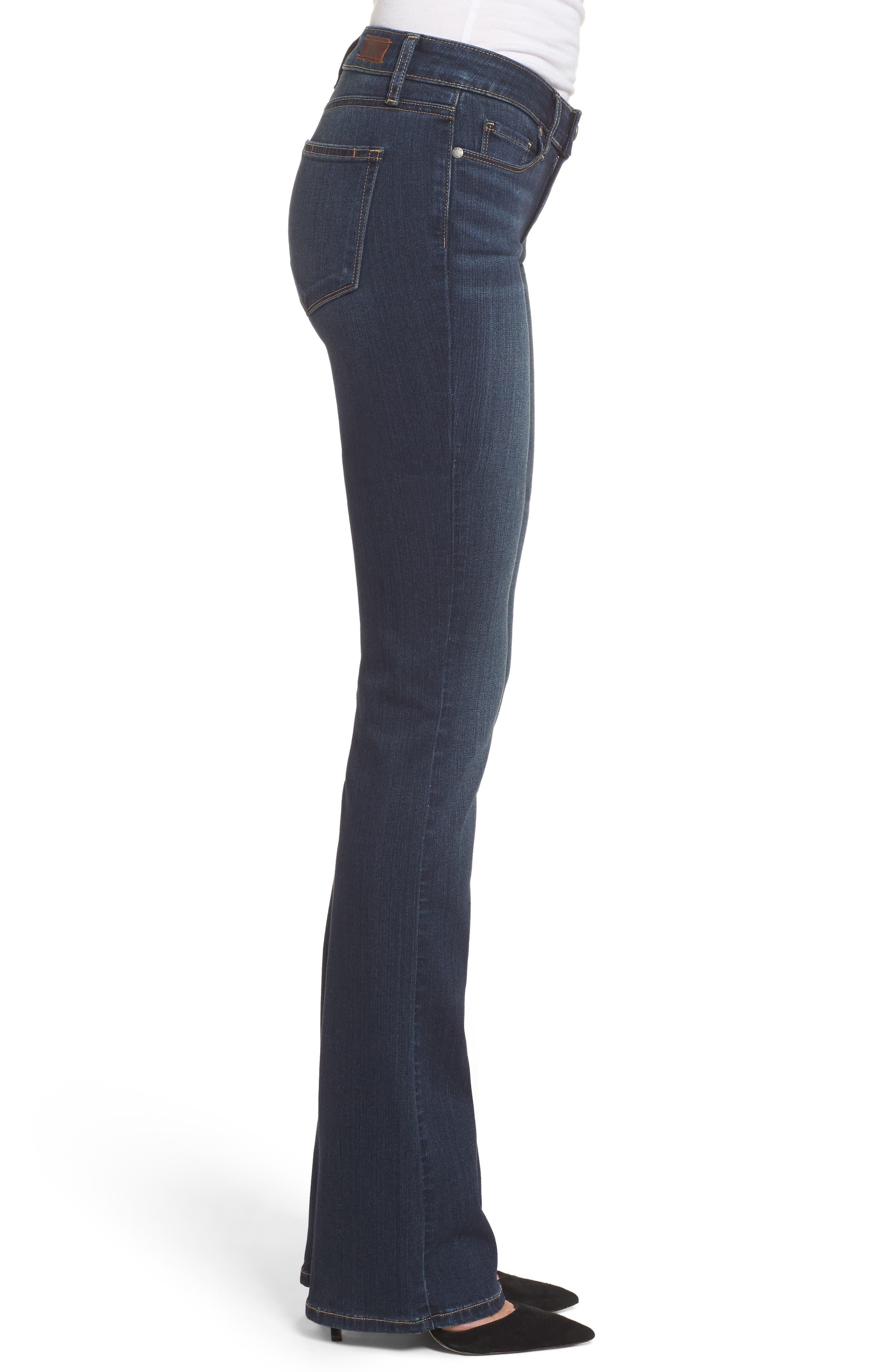 PAIGE, Transcend - Manhattan Bootcut Jeans, Alternate thumbnail 4, color, NOTTINGHAM