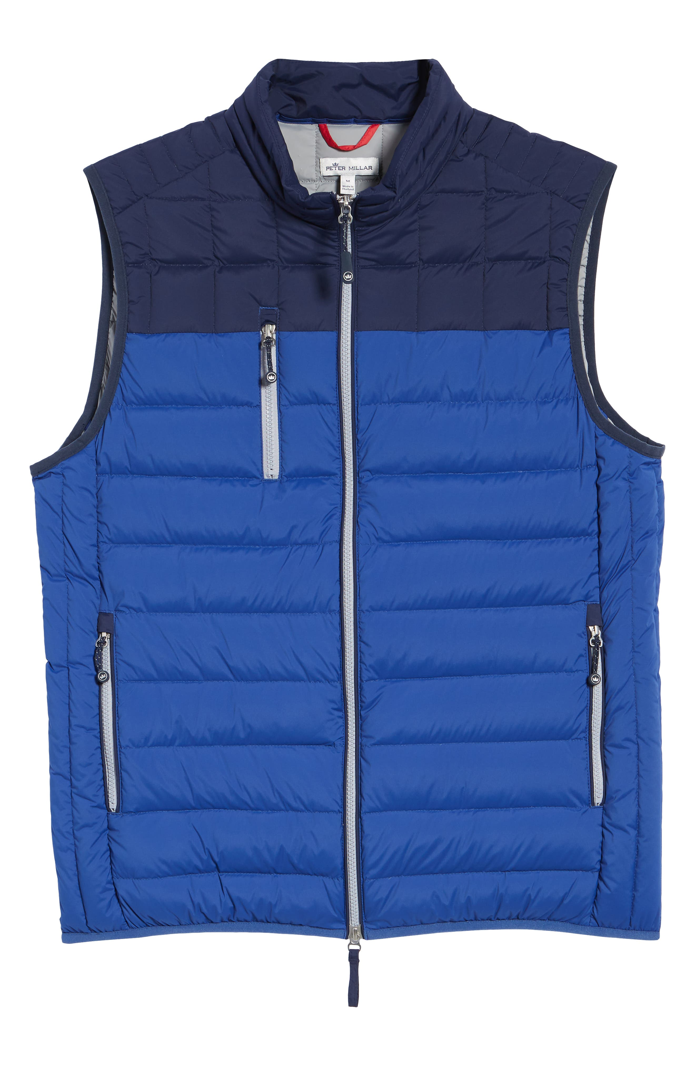 PETER MILLAR, Sail Classic Fit Puffer Vest, Alternate thumbnail 6, color, SAIL