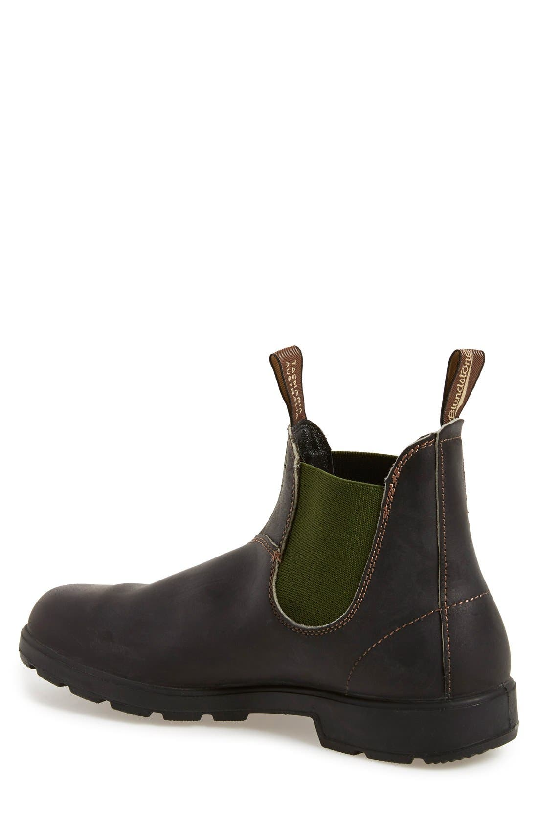 BLUNDSTONE FOOTWEAR, Chelsea Boot, Alternate thumbnail 2, color, STOUT BROWN