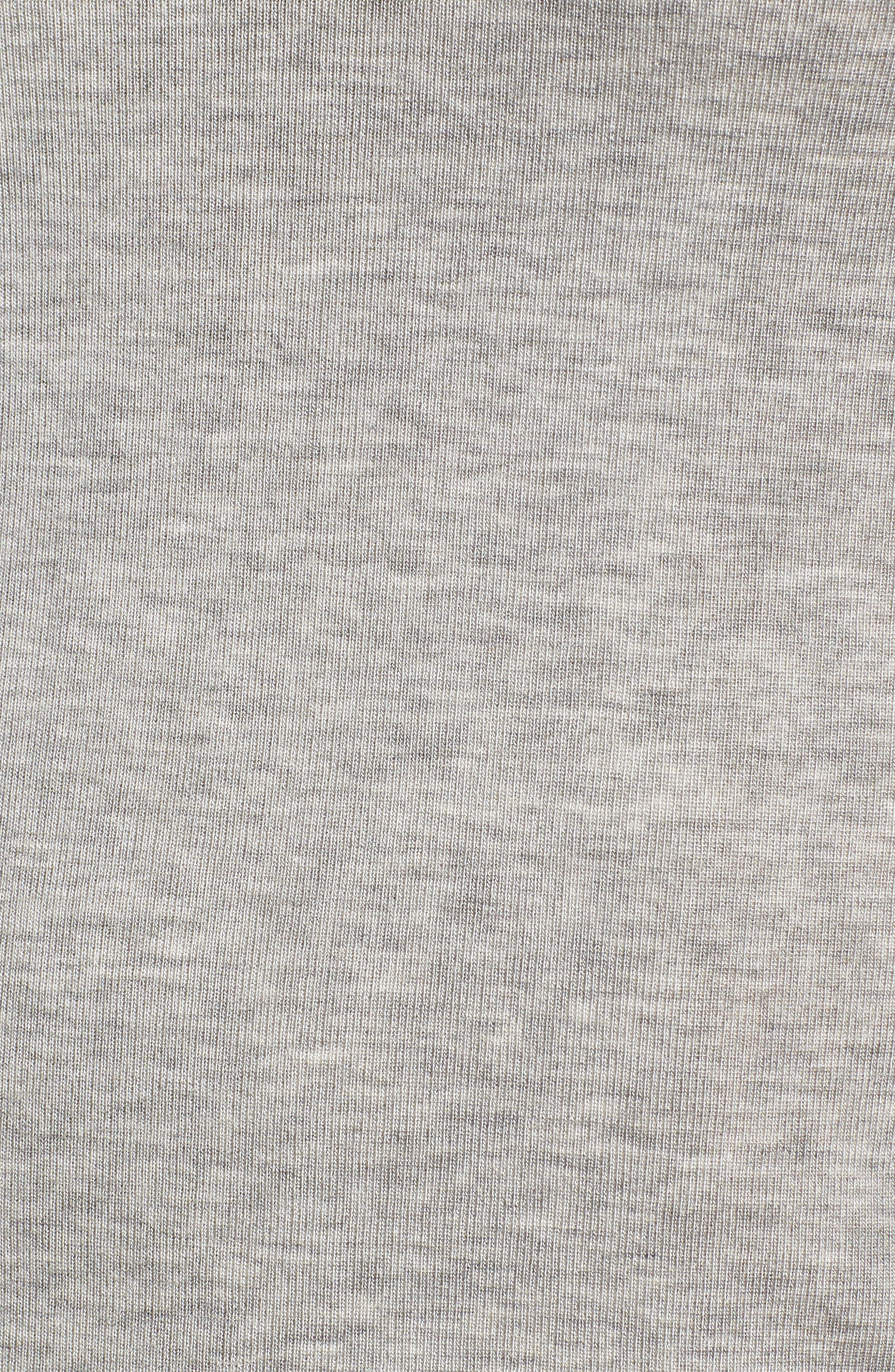CHELSEA28, Layering Turtleneck, Alternate thumbnail 5, color, GREY HEATHER