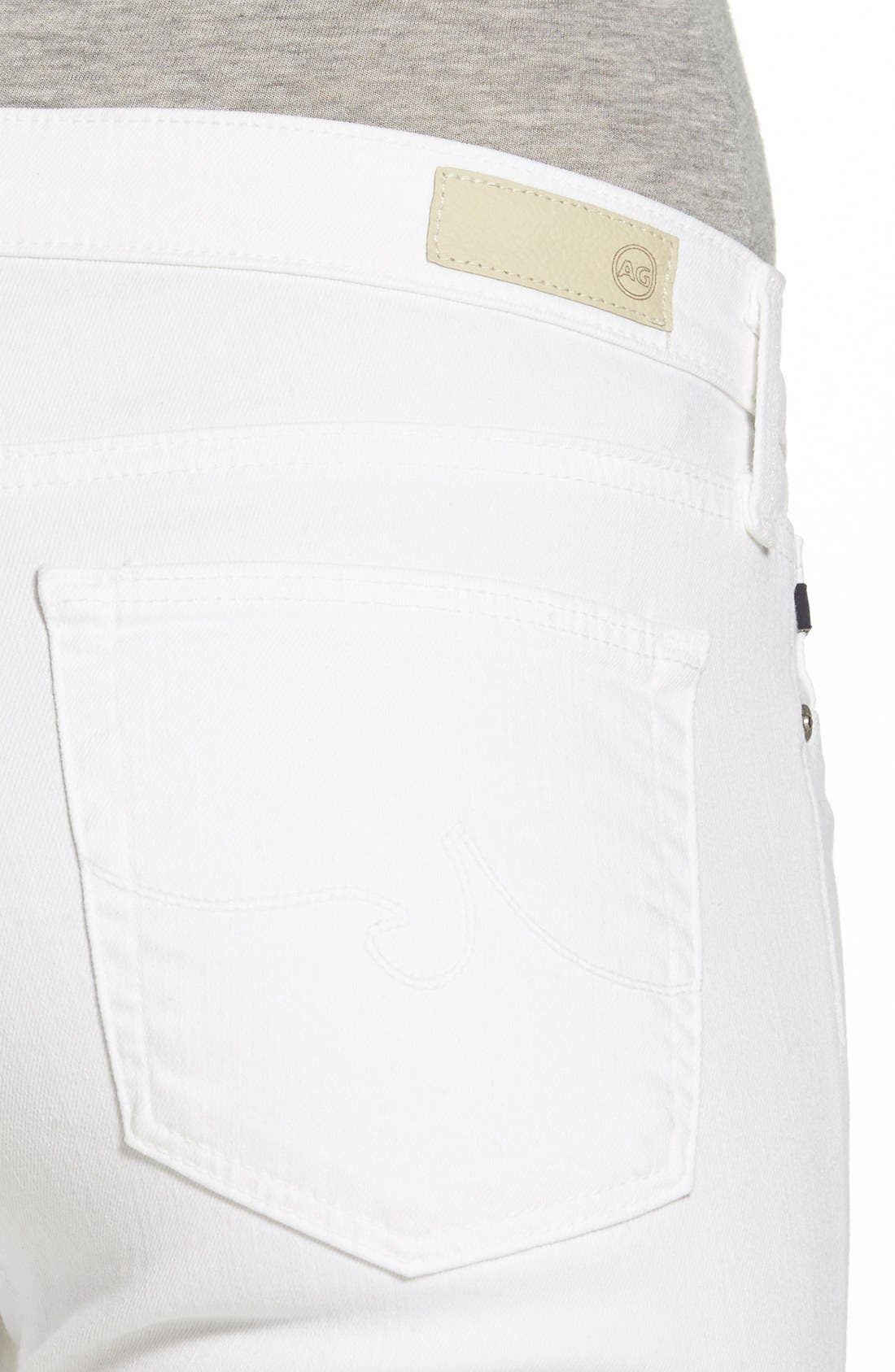 AG, 'Harper' Slim Straight Leg Jeans, Alternate thumbnail 5, color, WHITE