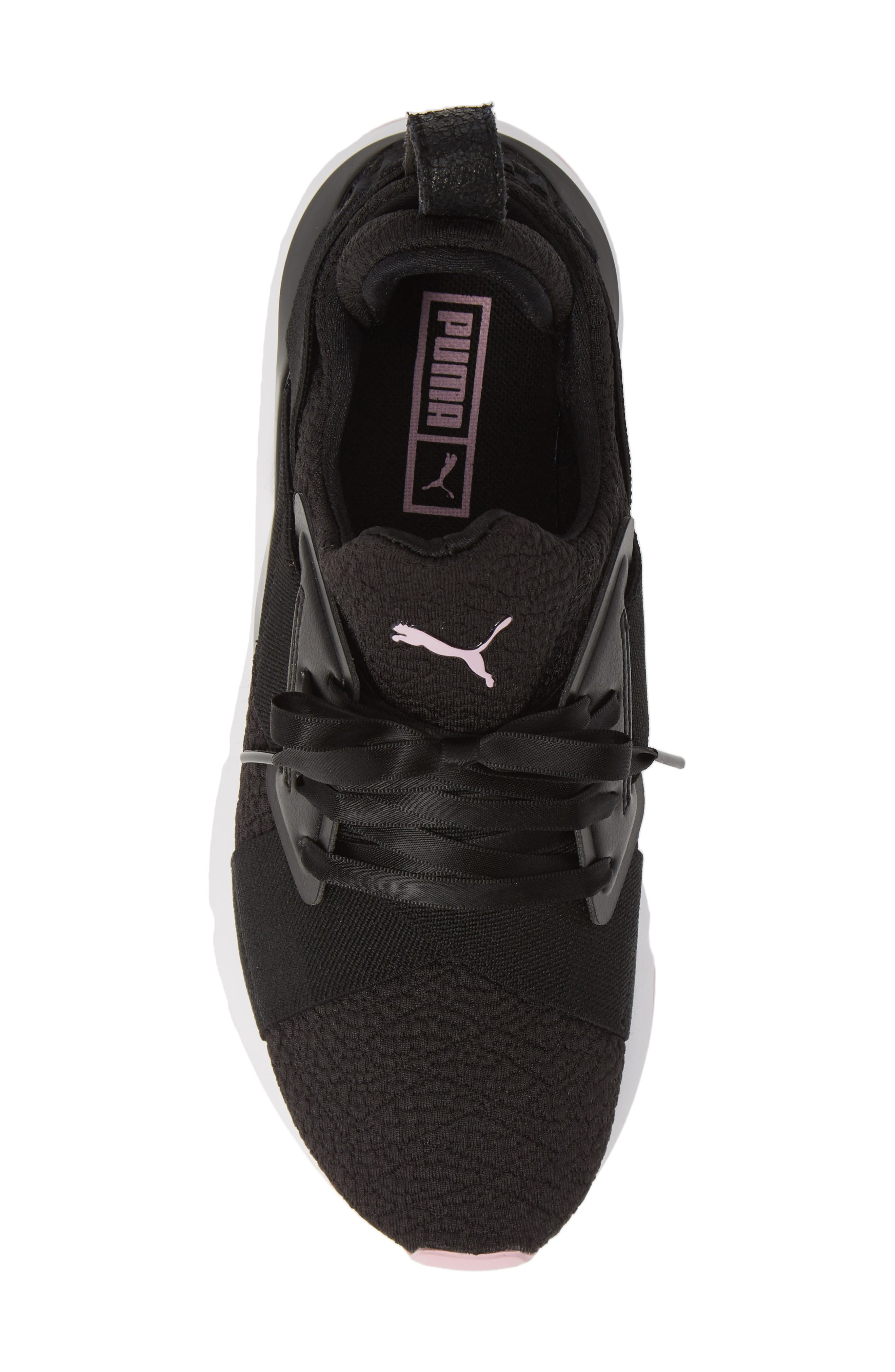 PUMA, Muse TZ Sneaker, Alternate thumbnail 5, color, BLACK/ PALE PINK