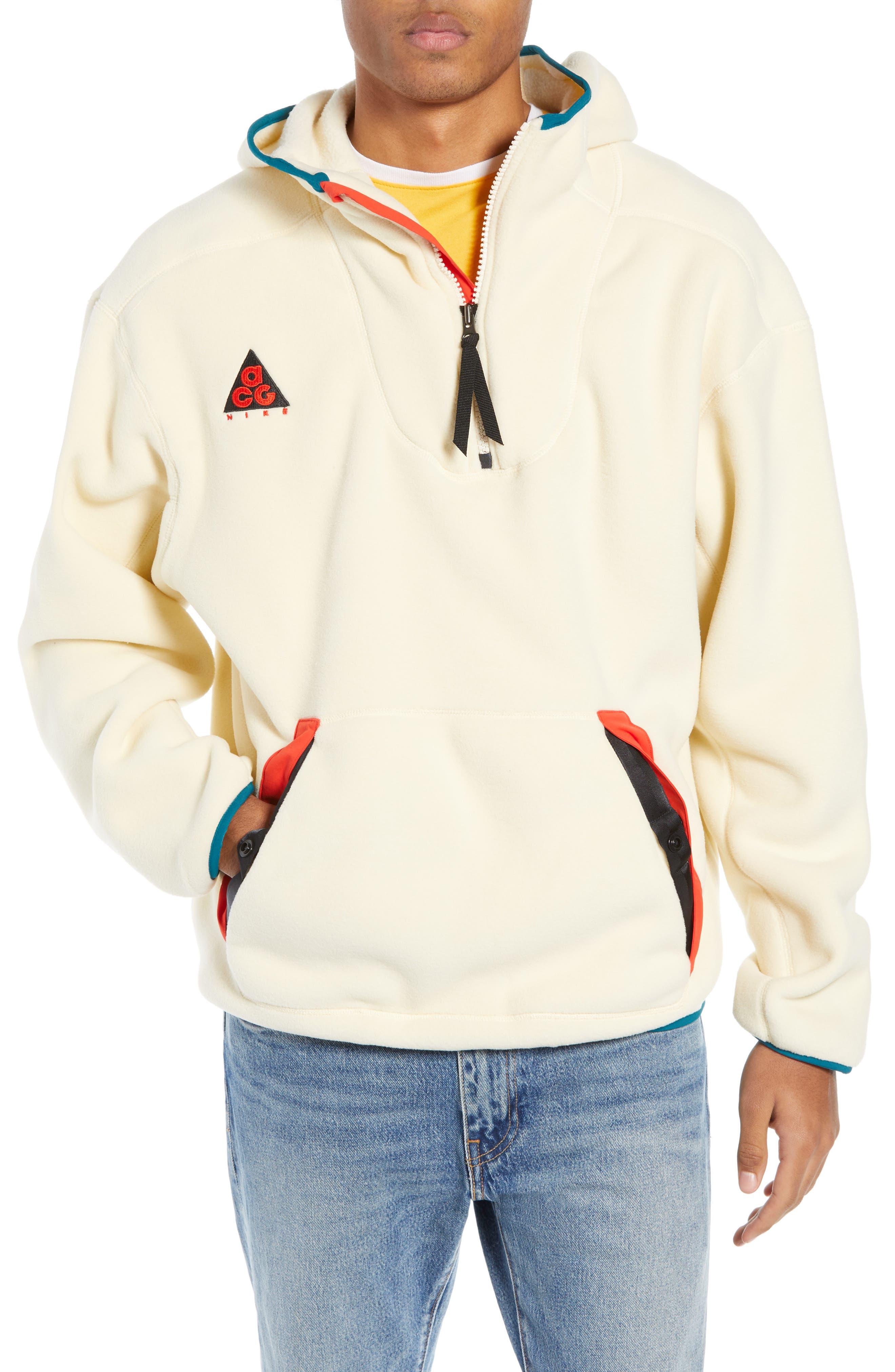 NIKE ACG Men's Fleece Hoodie, Main, color, LIGHT CREAM