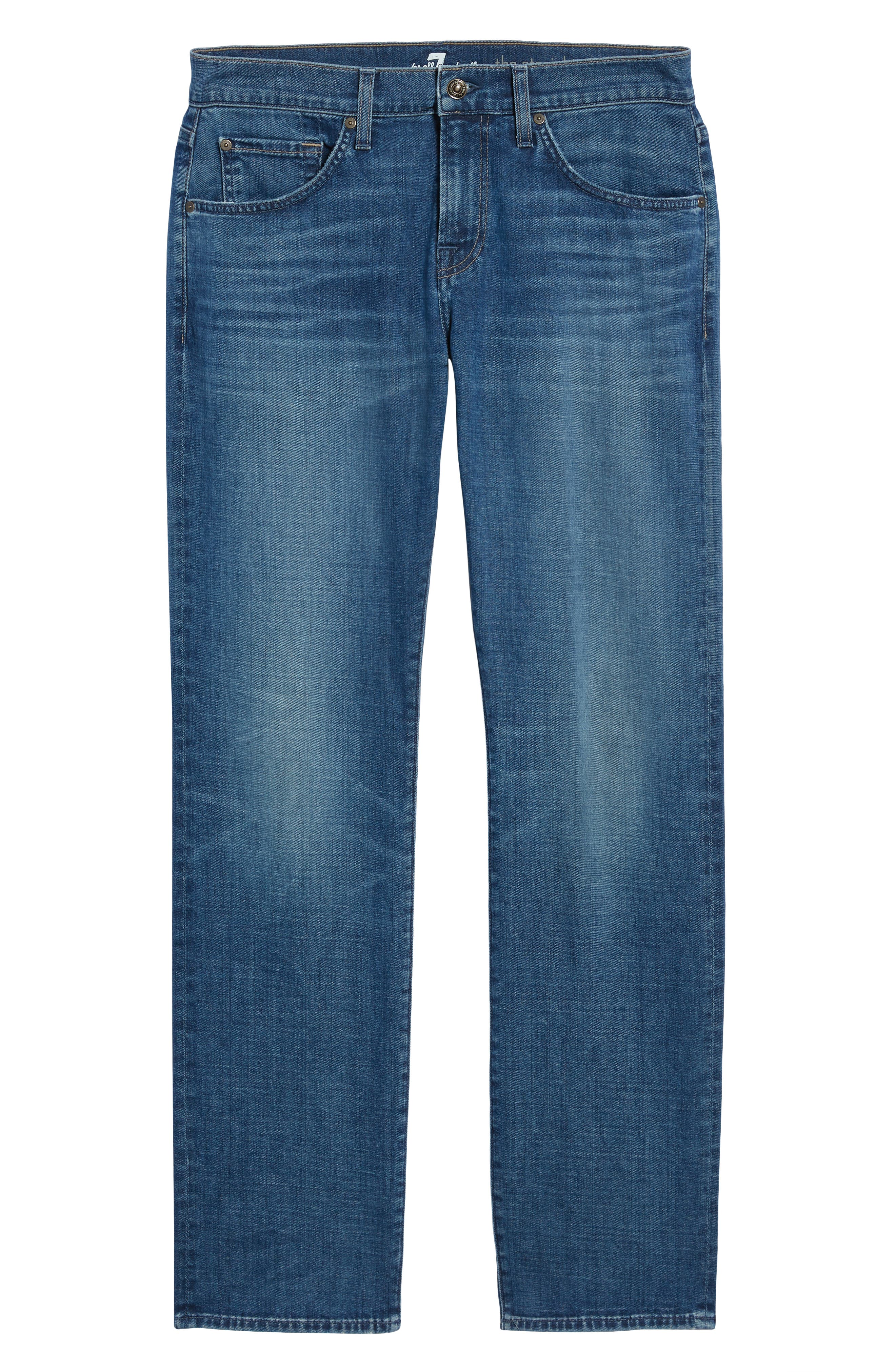 7 FOR ALL MANKIND<SUP>®</SUP>, Straight Slim Straight Leg Jeans, Alternate thumbnail 7, color, LYNNWOOD-LYNN