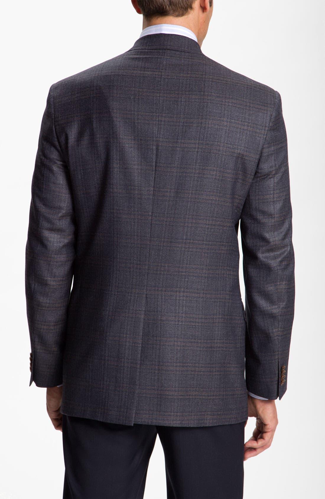HART SCHAFFNER MARX, Plaid Sportcoat, Alternate thumbnail 2, color, 401