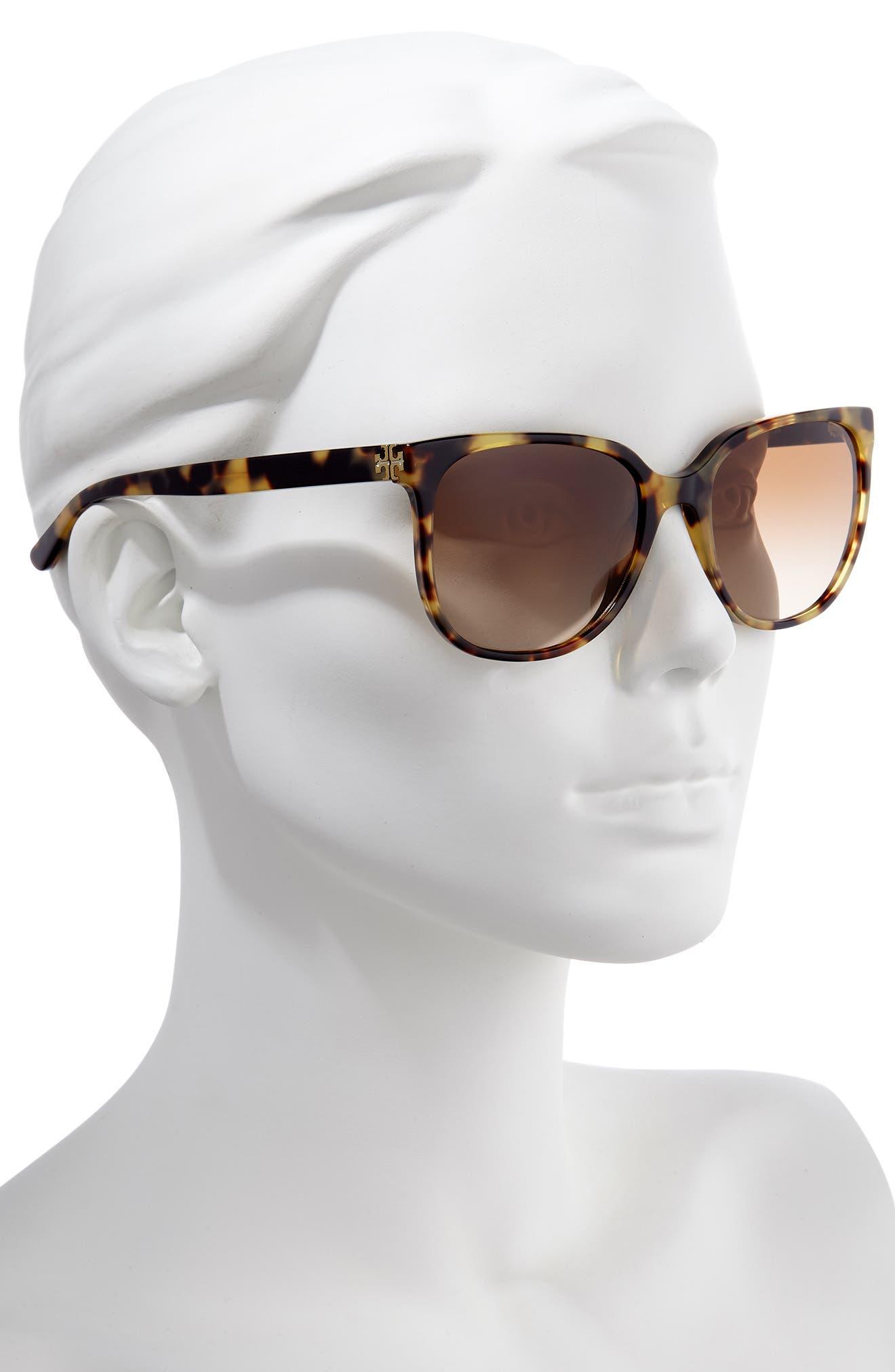 TORY BURCH, 57mm Gradient Sunglasses, Alternate thumbnail 2, color, 205