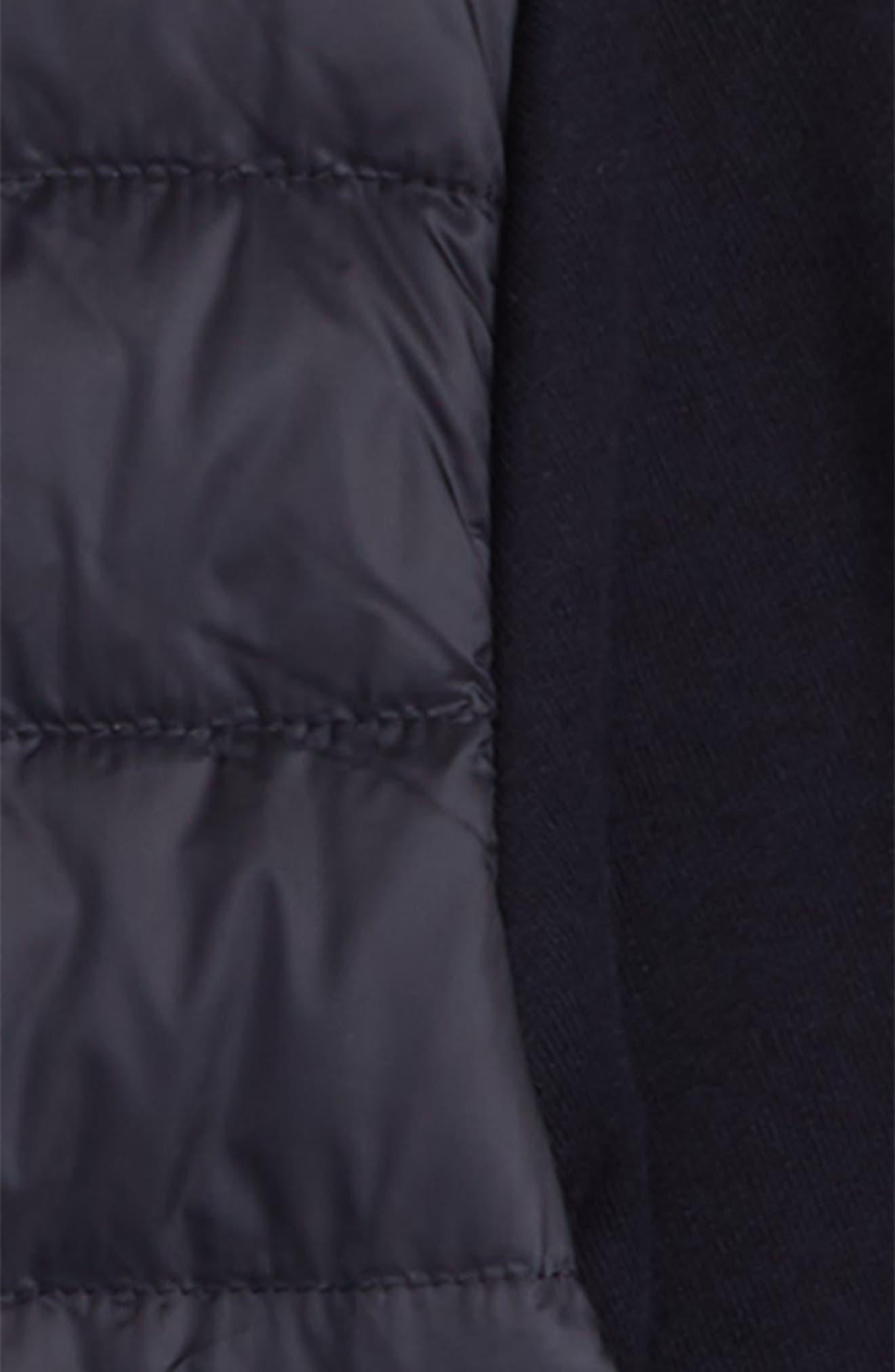 MONCLER, Hybrid Down Jacket, Alternate thumbnail 2, color, NAVY
