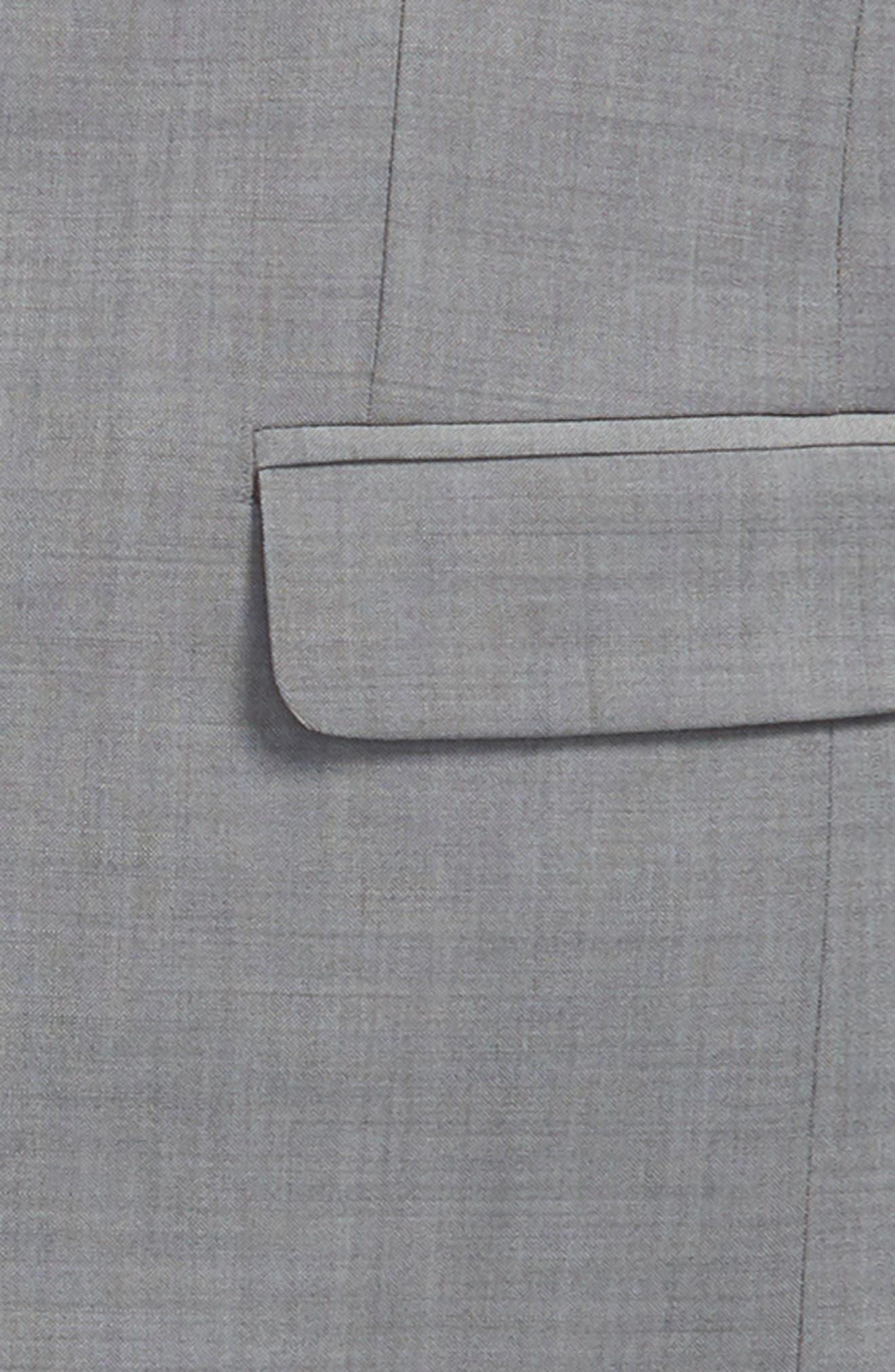 MICHAEL KORS, Stretch Wool Suit, Alternate thumbnail 2, color, LIGHT GREY
