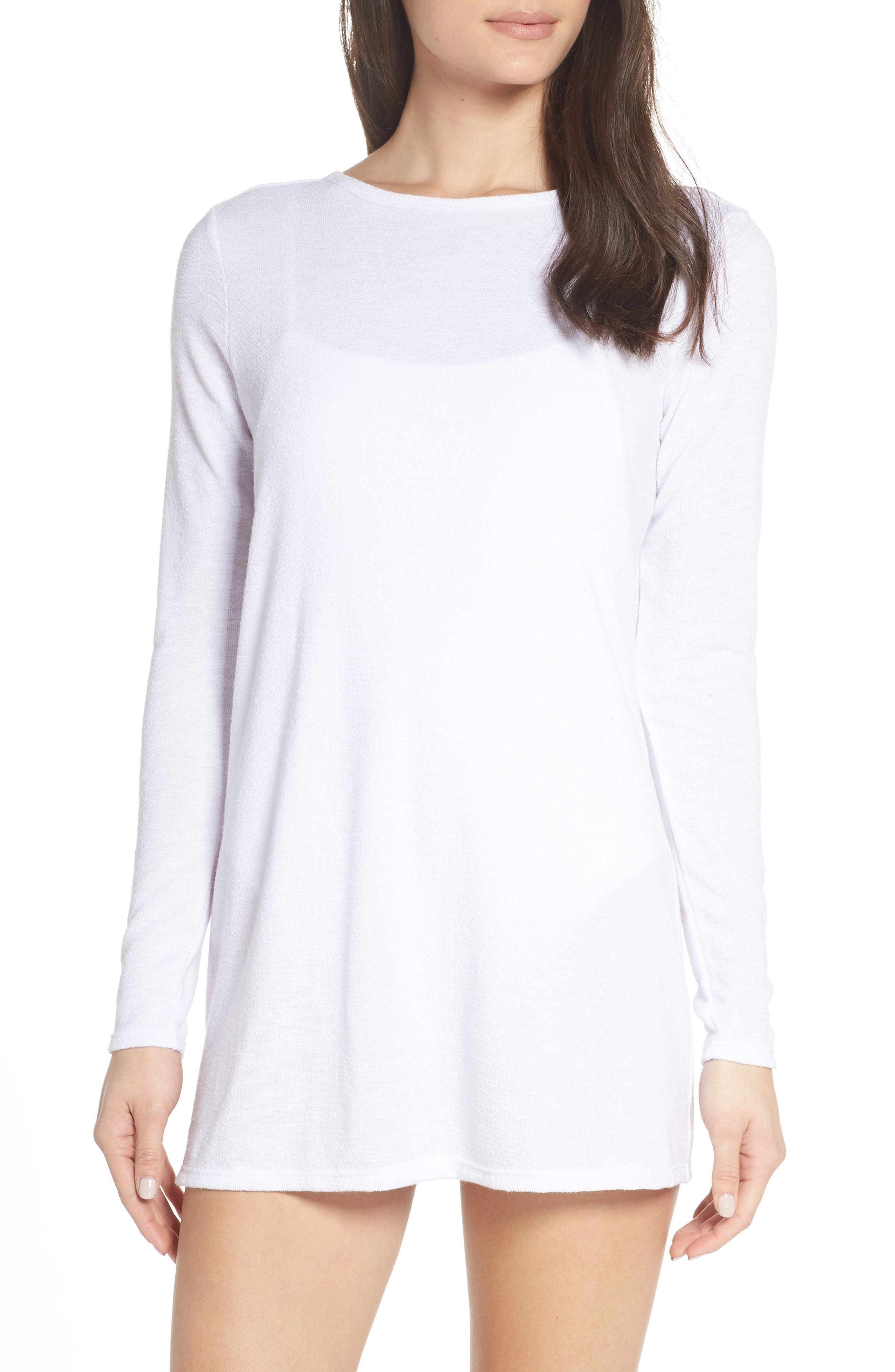 SOMETHING NAVY Isla Cover-Up, Main, color, WHITE