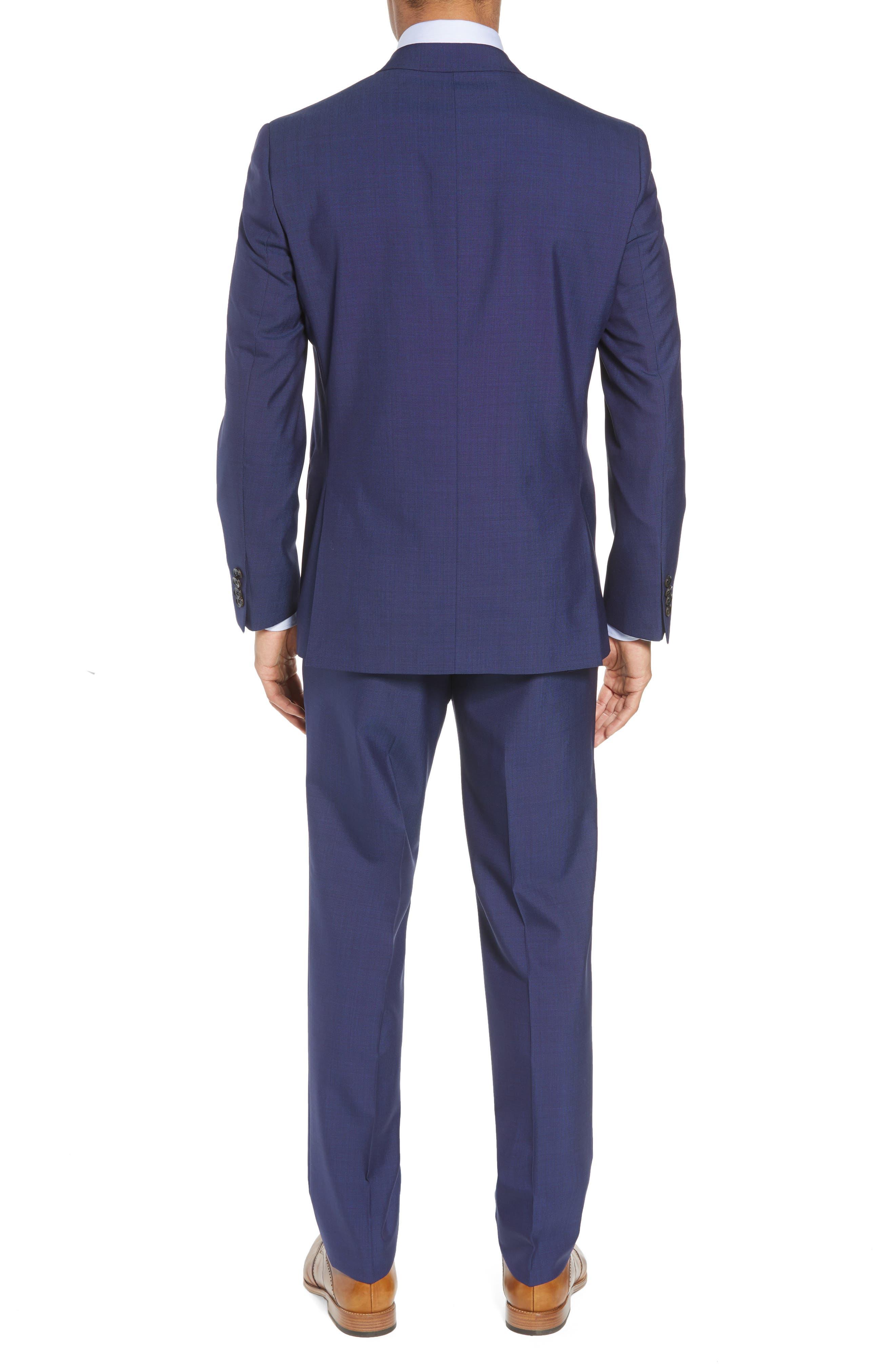 TED BAKER LONDON, Jay Trim Fit Suit, Alternate thumbnail 2, color, BLUE