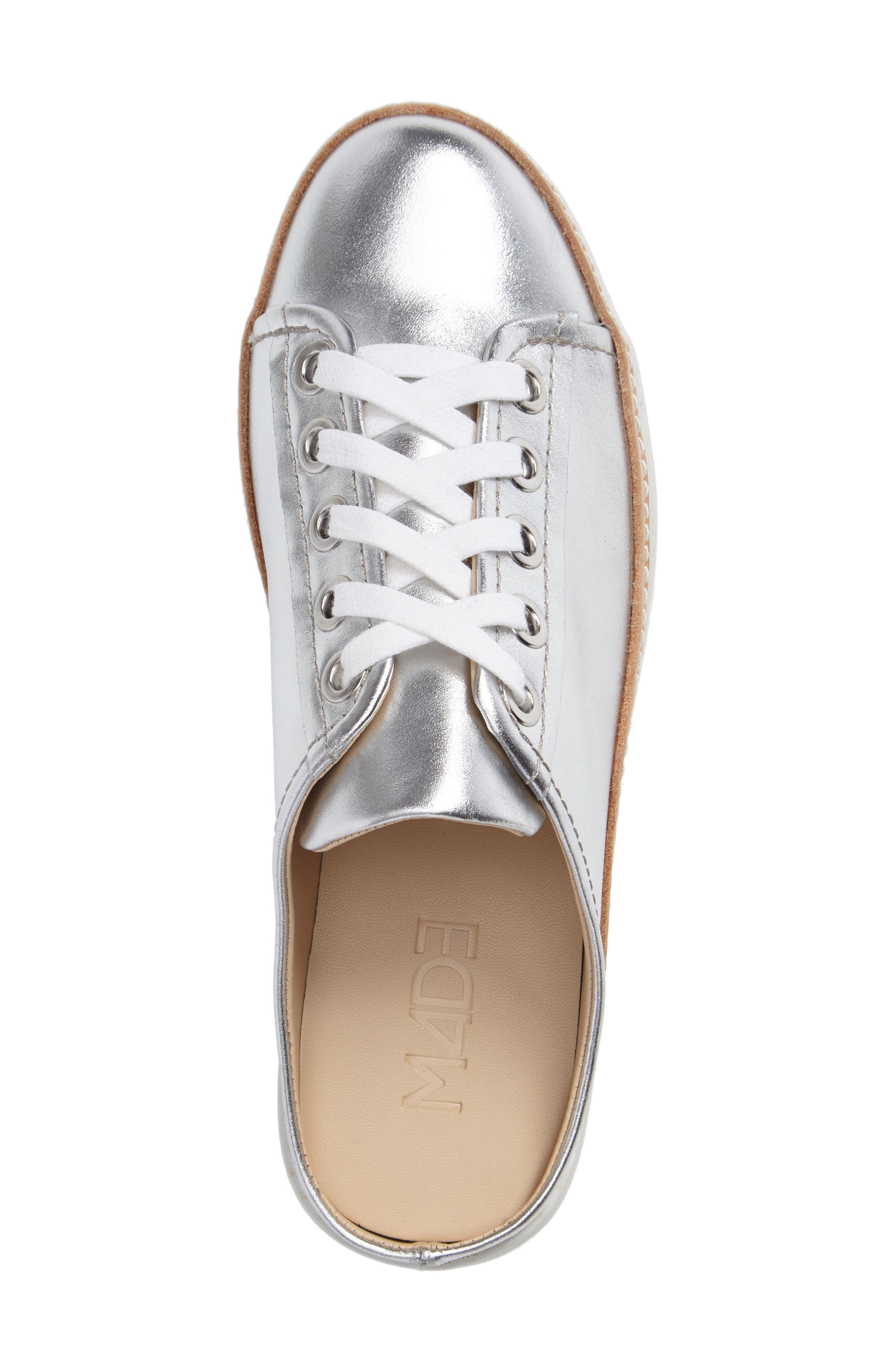 M4D3, Platform Mule Sneaker, Alternate thumbnail 3, color, SILVER