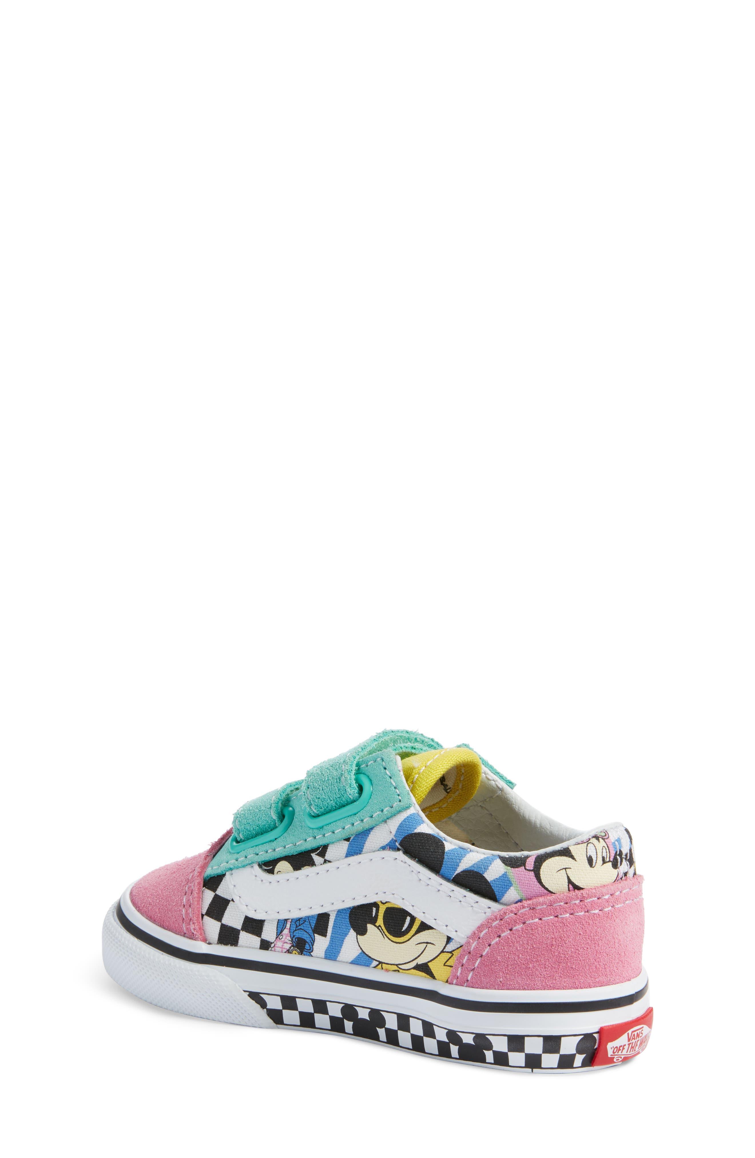VANS, x Disney Old Skool V Sneaker, Alternate thumbnail 2, color, 650