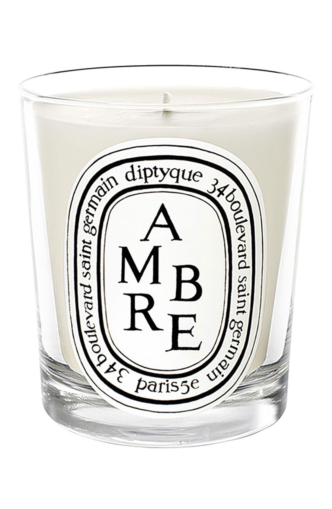 DIPTYQUE Ambre Scented Candle, Main, color, NO COLOR
