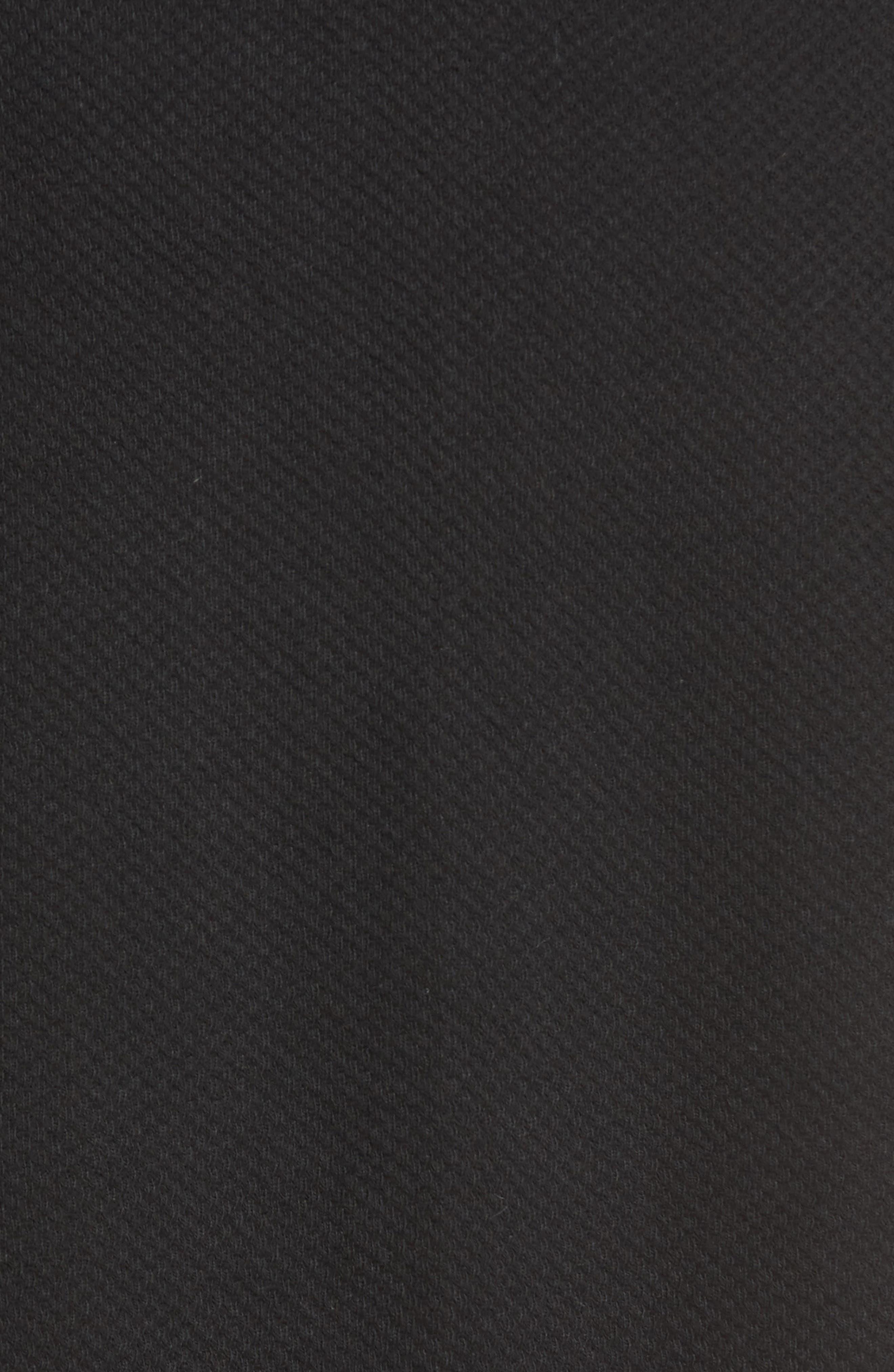 NORDSTROM MEN'S SHOP, Thermal Robe, Alternate thumbnail 5, color, 001