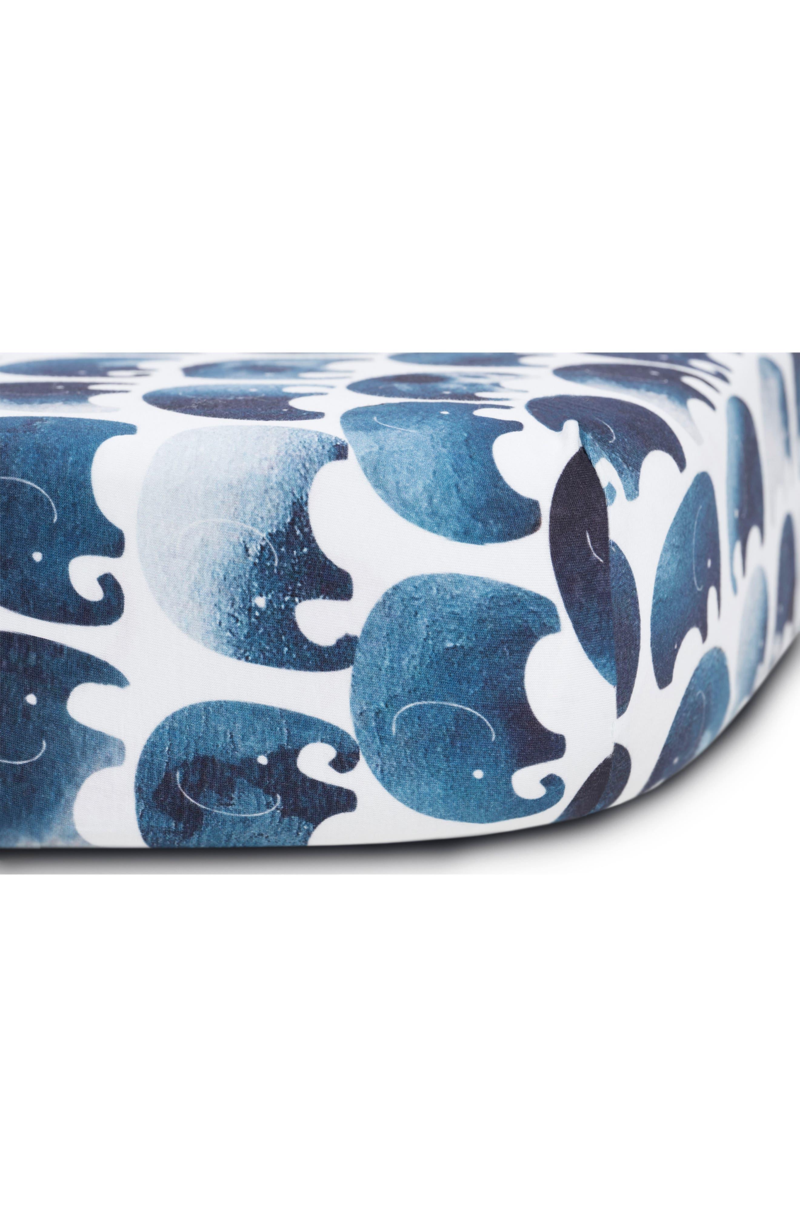OILO, Elefant Jersey Crib Sheets, Alternate thumbnail 2, color, ELEFANT