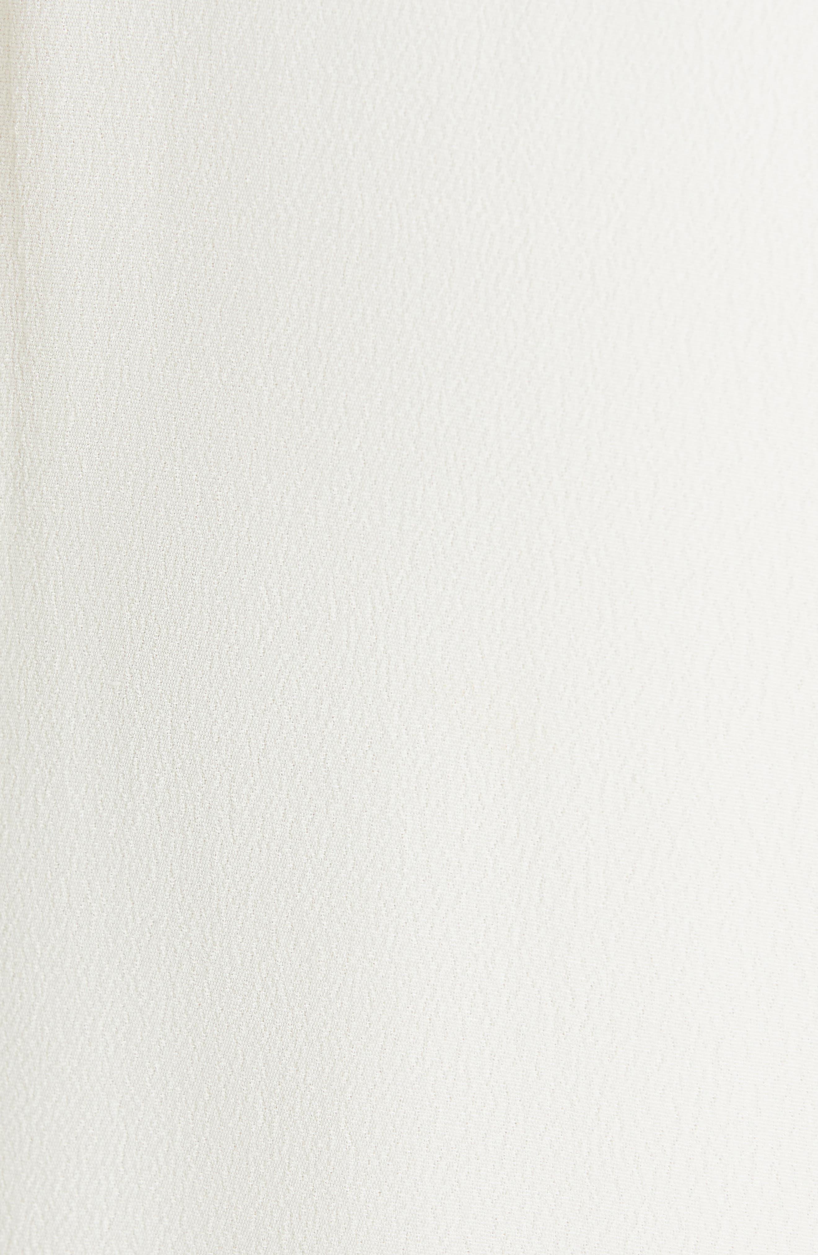 EQUIPMENT, Faun Twist Front Dress, Alternate thumbnail 5, color, NATURE WHITE