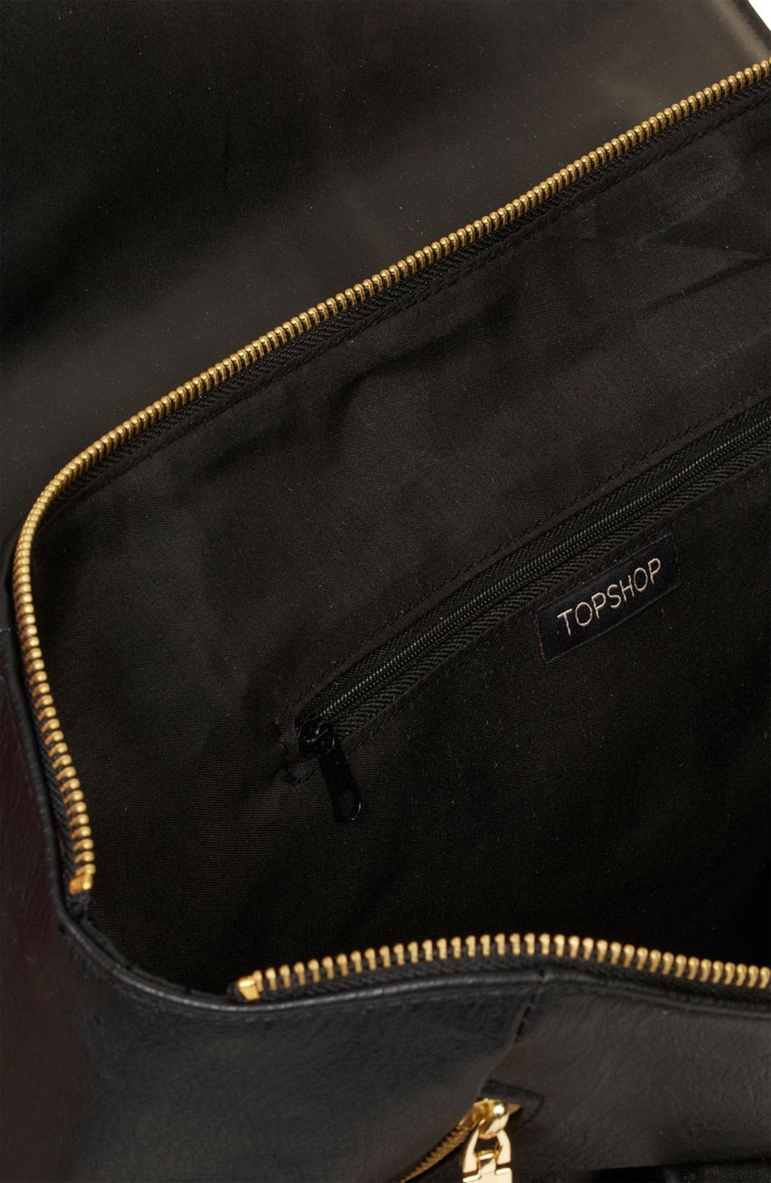 TOPSHOP, Winged Tote, Alternate thumbnail 4, color, 001