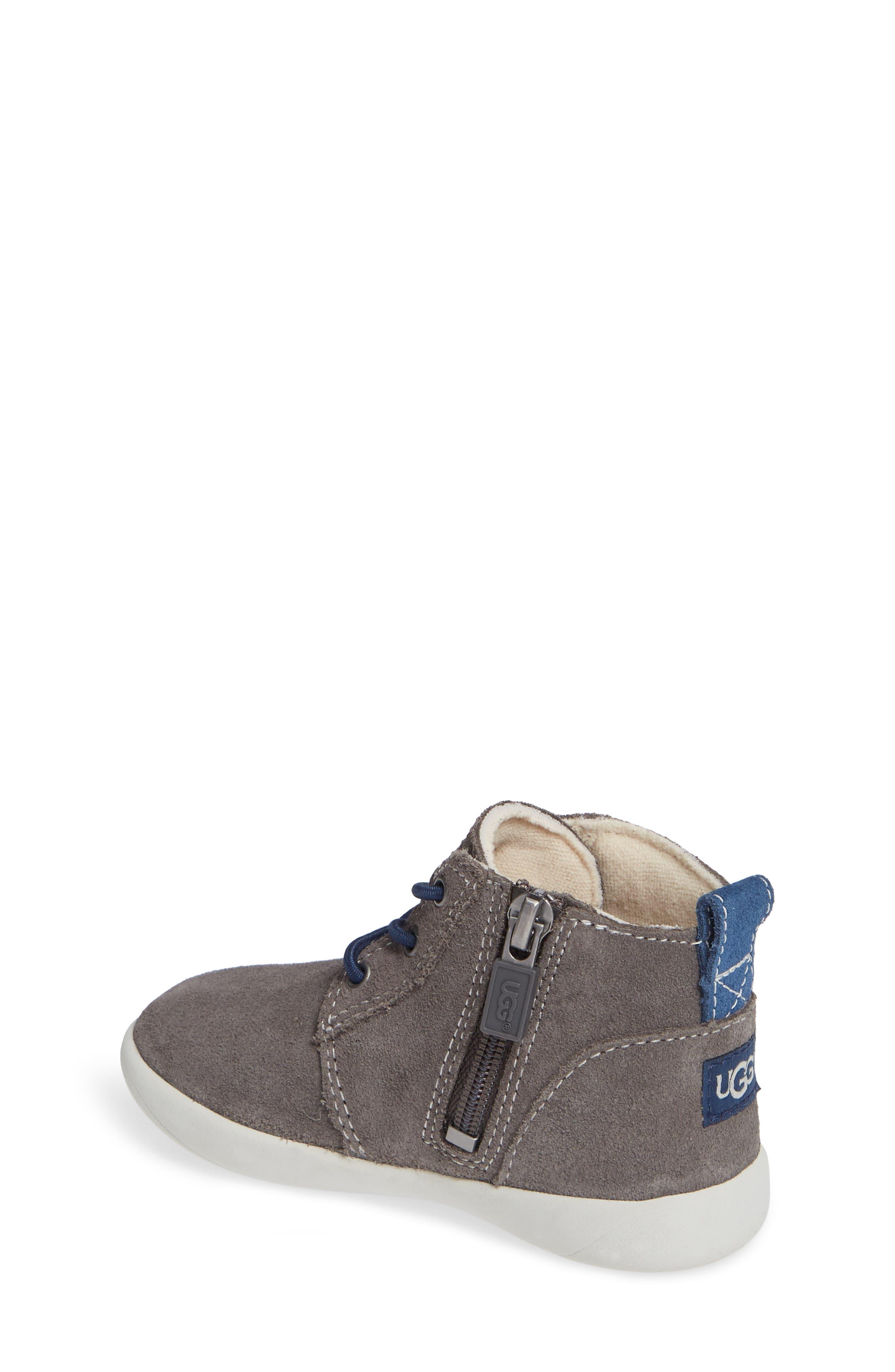 UGG<SUP>®</SUP>, Kristjan Chukka Sneaker, Alternate thumbnail 2, color, CHARCOAL GREY