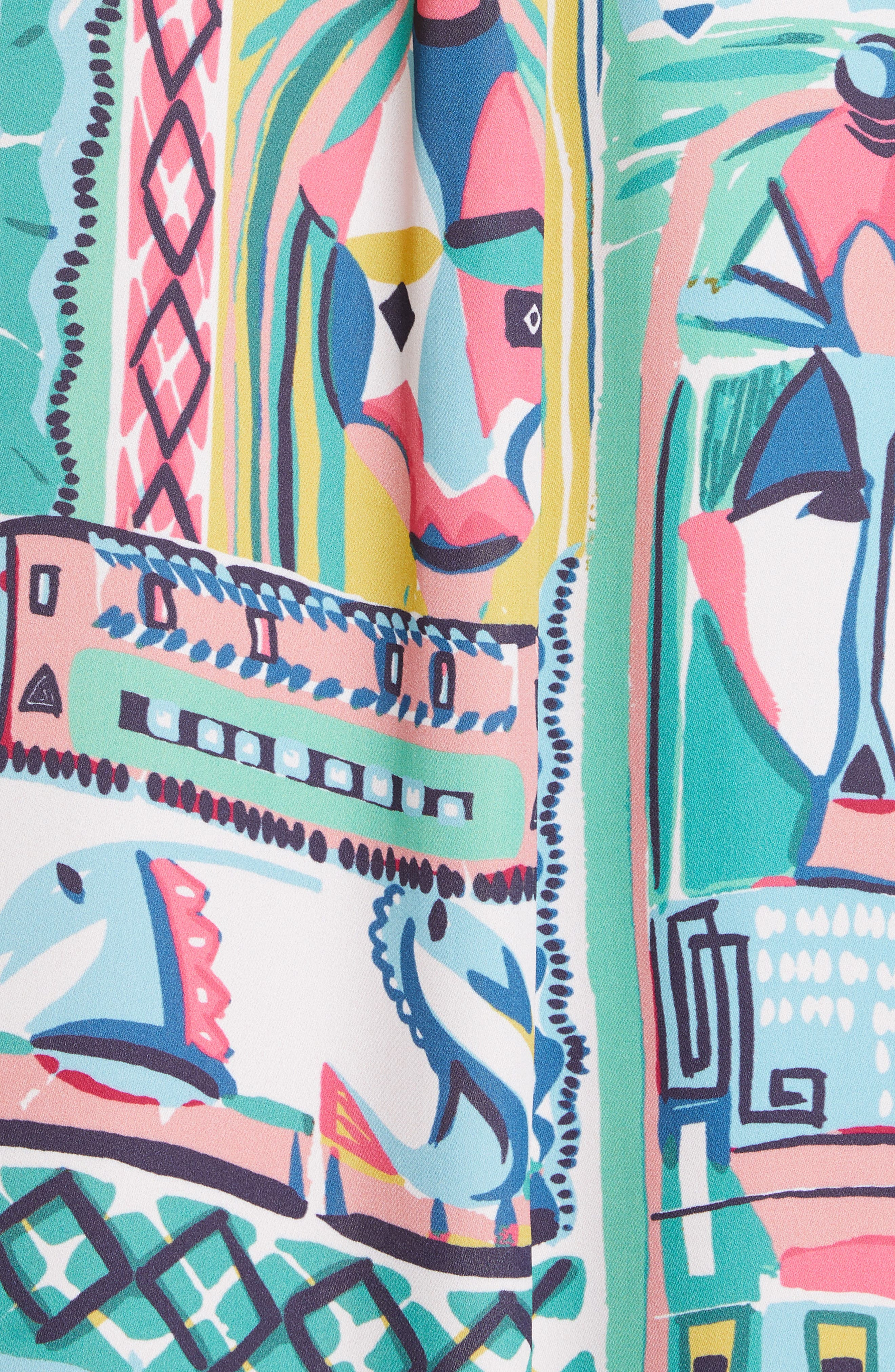 LAFAYETTE 148 NEW YORK, Doha Palazzo Patchwork Print Maxi Shirtdress, Alternate thumbnail 5, color, 400