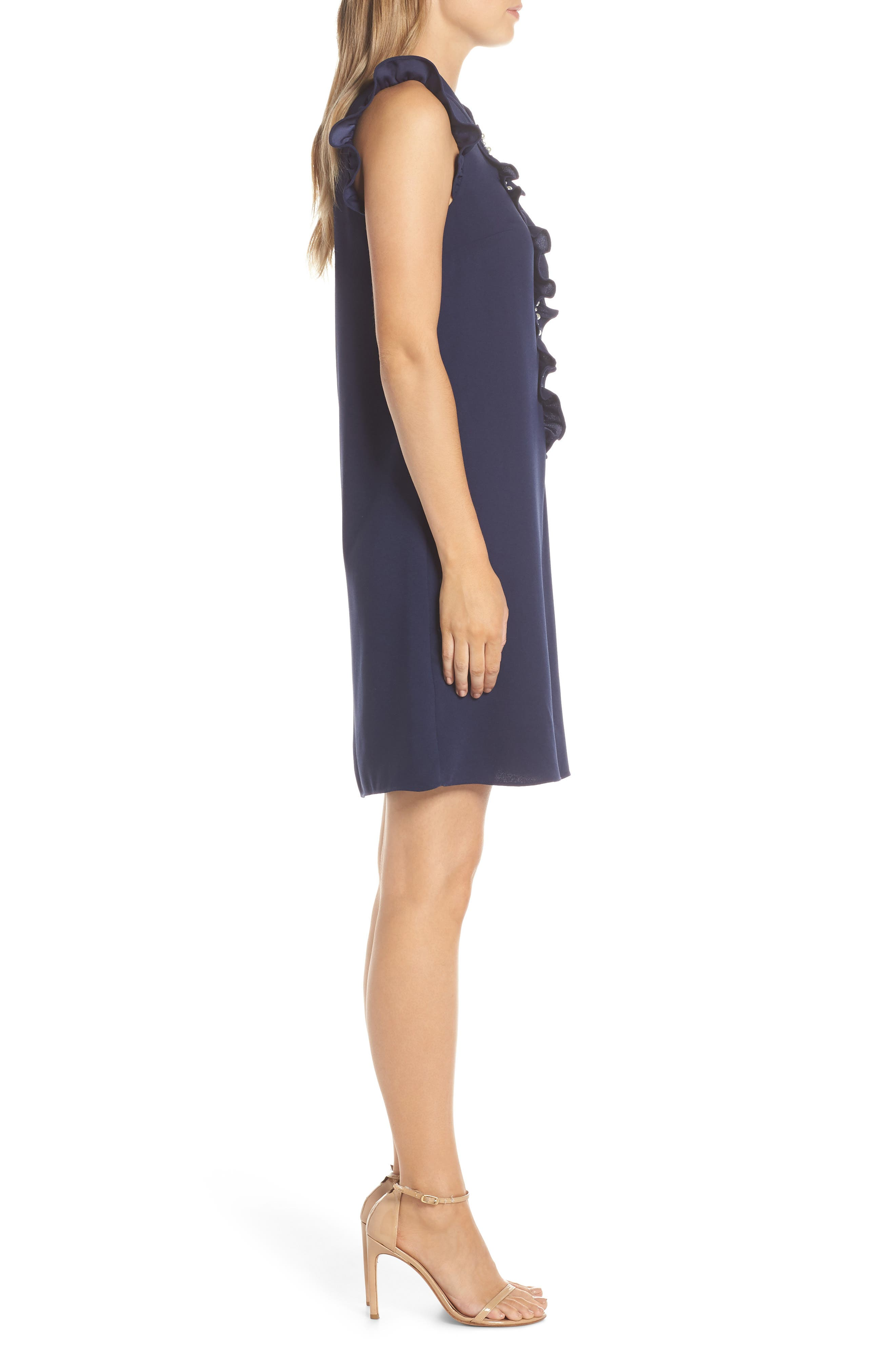 LILLY PULITZER<SUP>®</SUP>, Adalee Shift Dress, Alternate thumbnail 3, color, TRUE NAVY