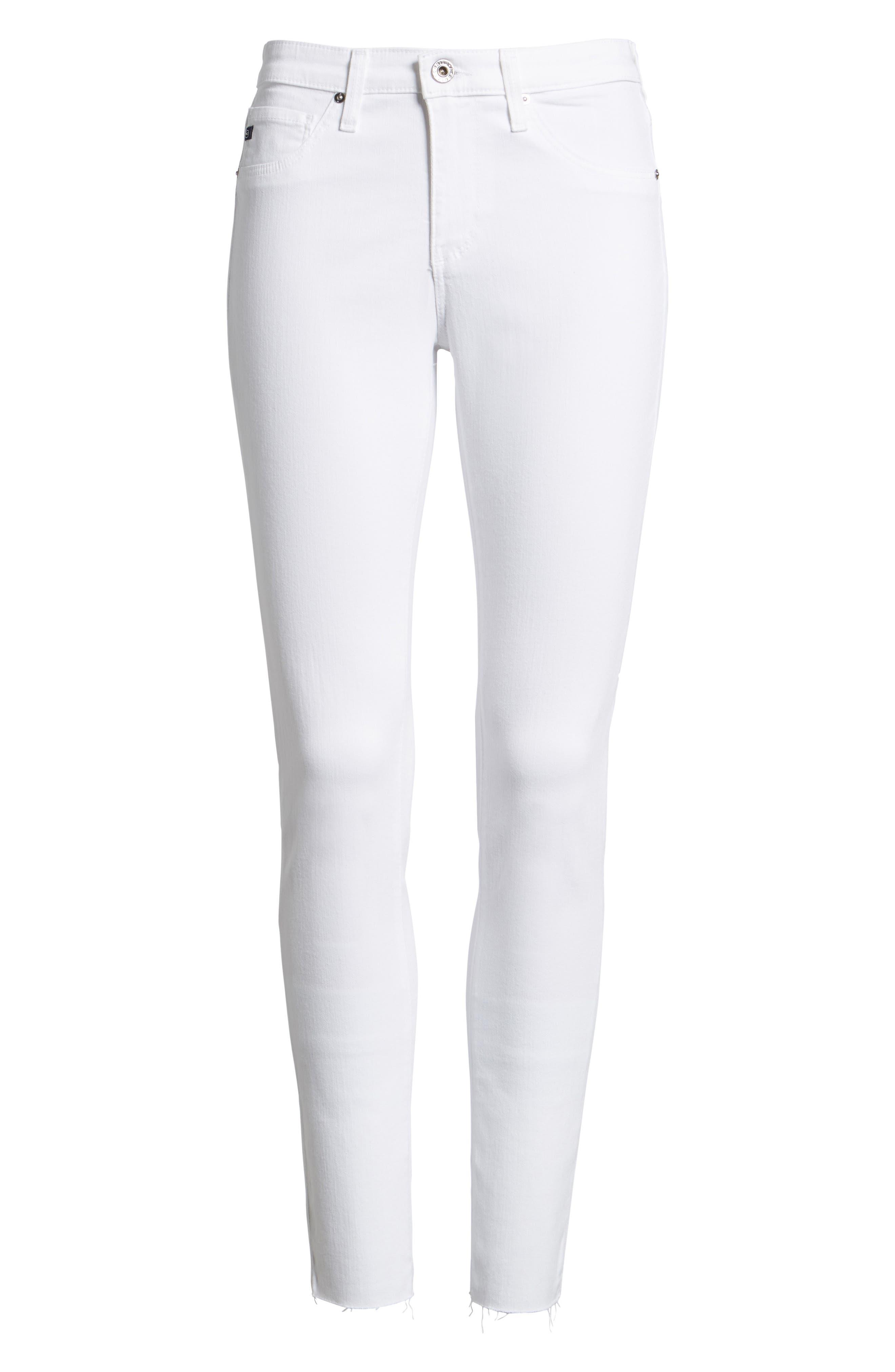 AG, 'The Legging' Cutoff Ankle Skinny Jeans, Alternate thumbnail 2, color, WHITE