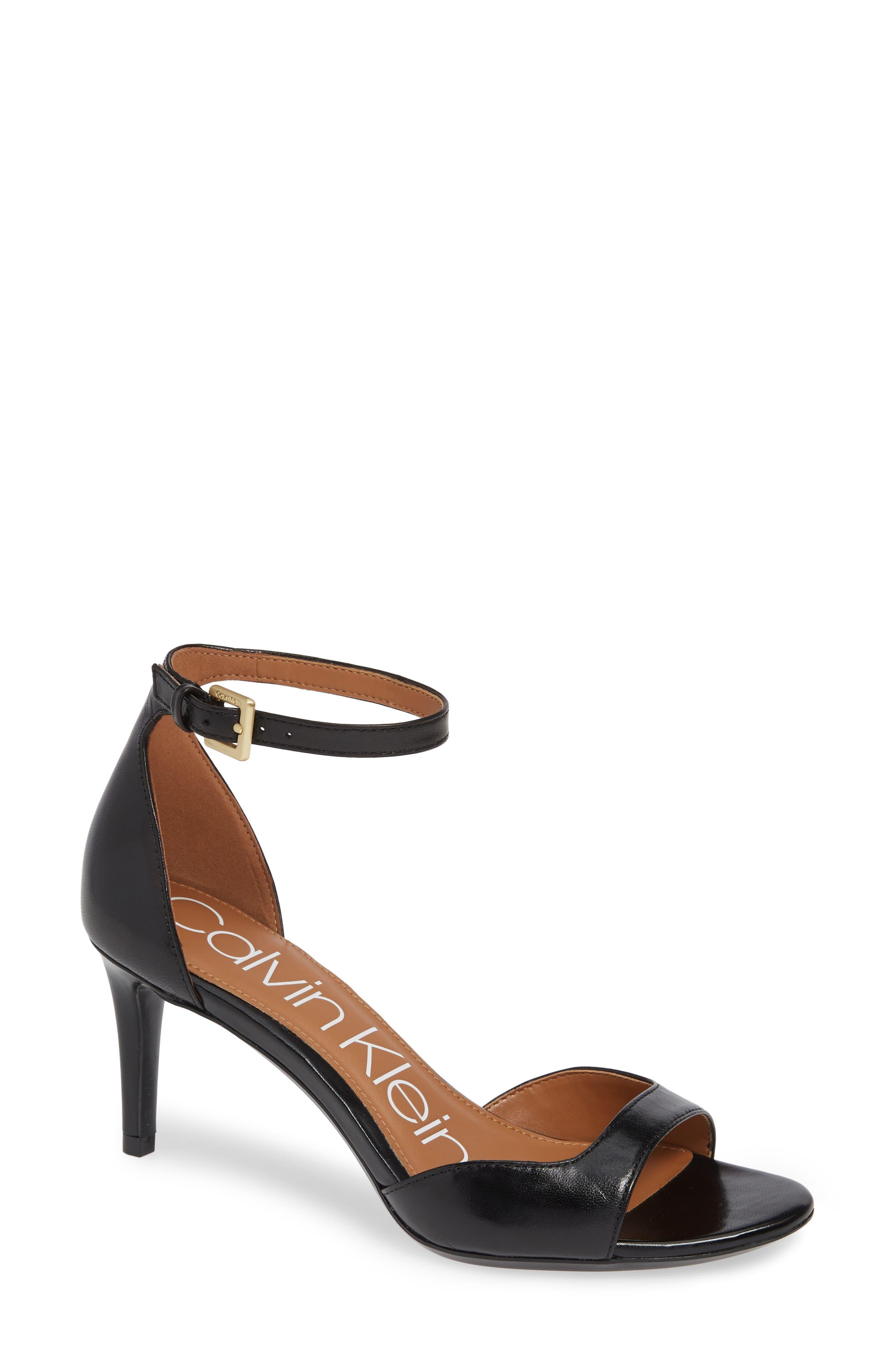 abd90fd33ea9 Calvin Klein Luellen Ankle Strap Sandal- Black
