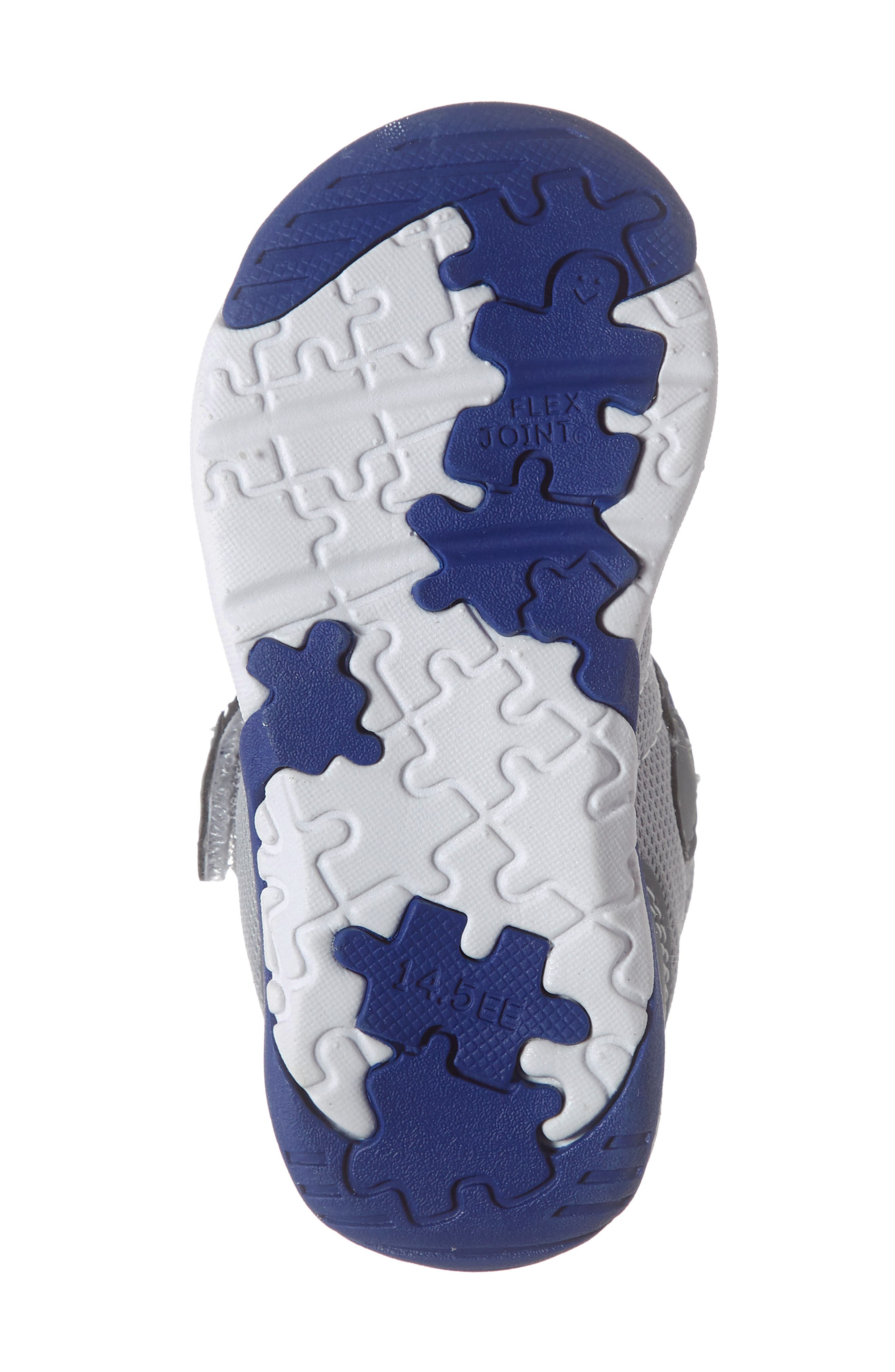TSUKIHOSHI, Kaz Washable Sneaker, Alternate thumbnail 6, color, GRAY/ ROYAL