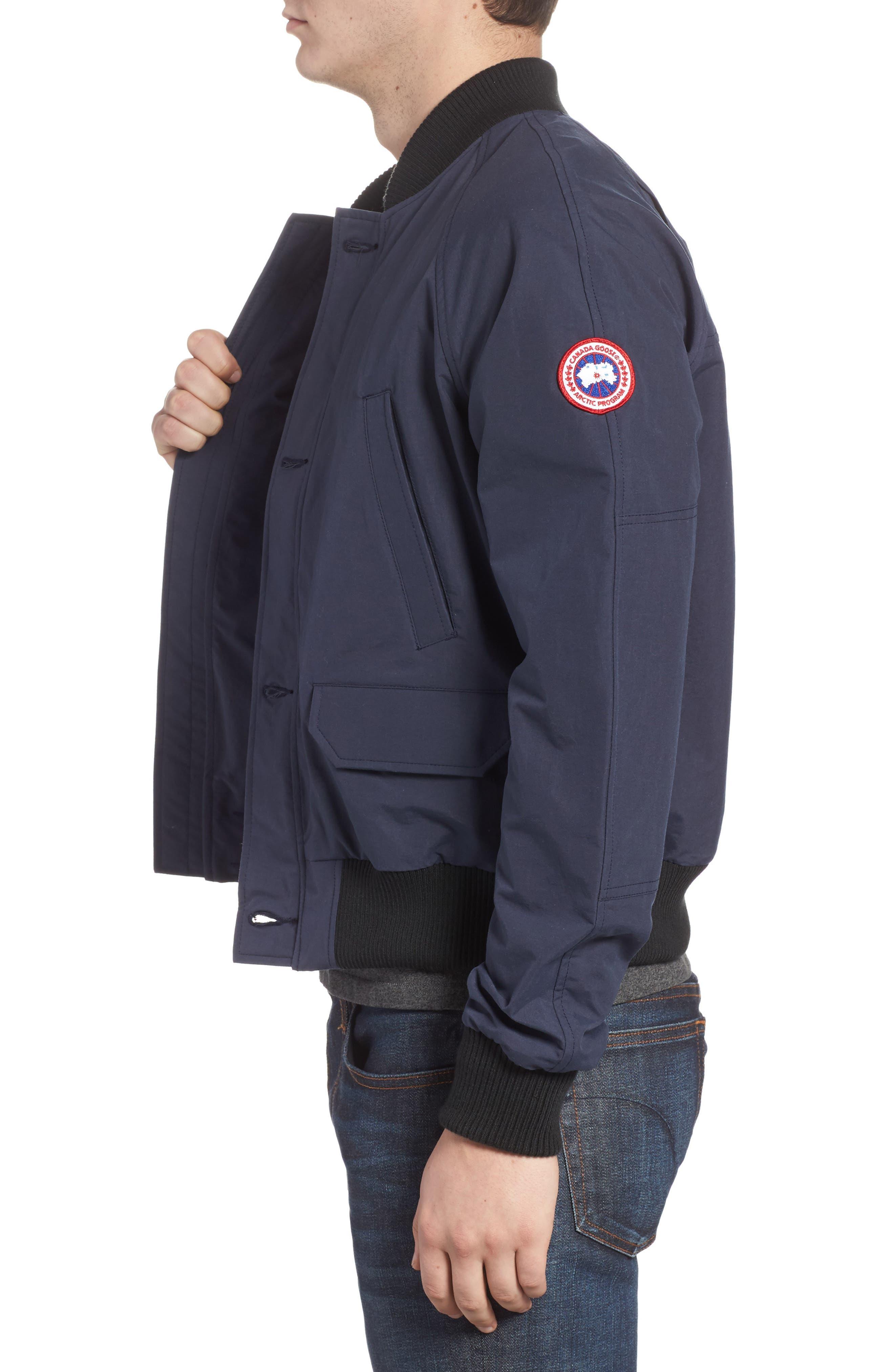 CANADA GOOSE, Faber Slim Fit Bomber Jacket, Alternate thumbnail 3, color, 400