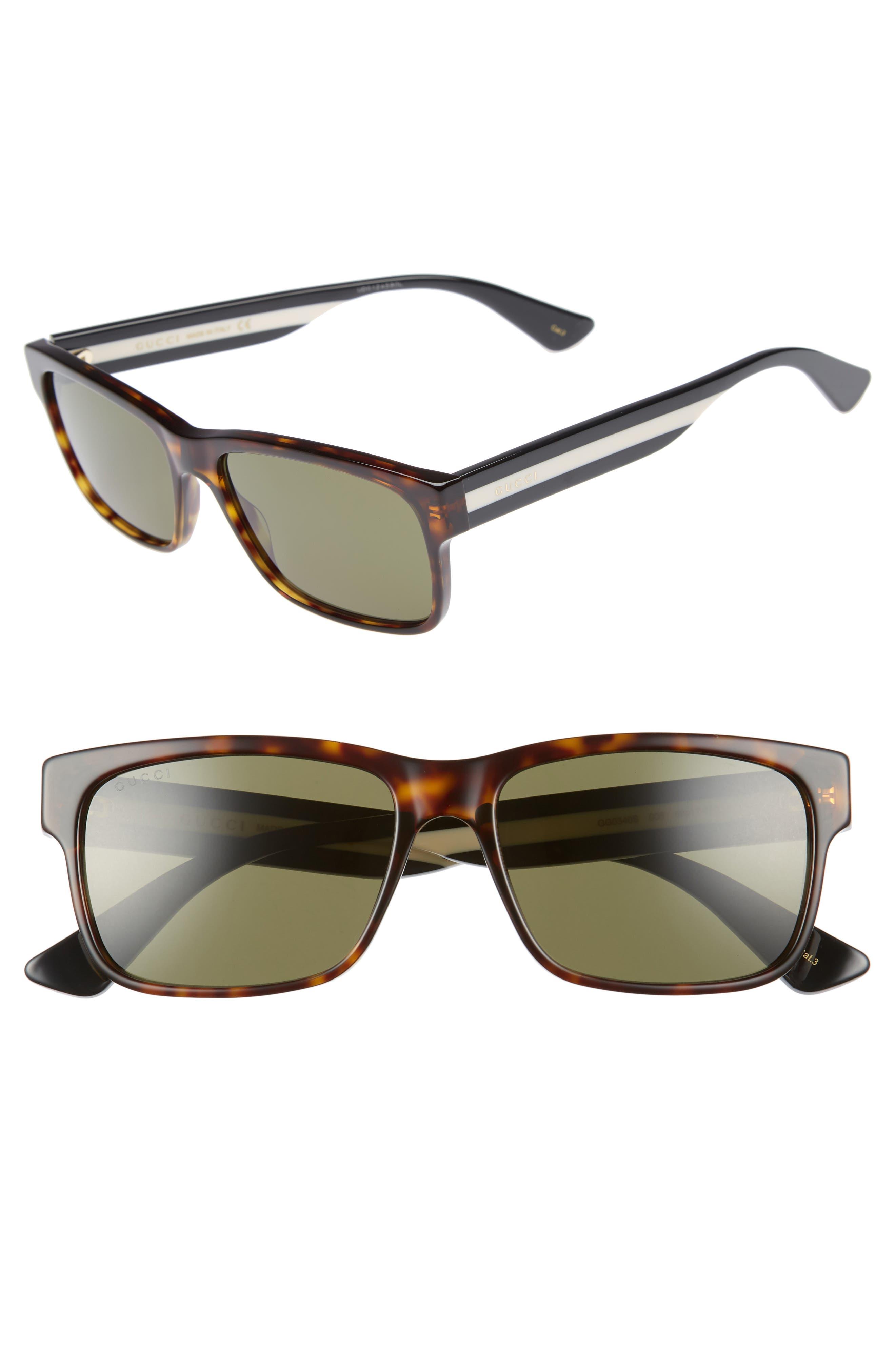 GUCCI Sylvie 58mm Sunglasses, Main, color, BLACK MULTICOLOR