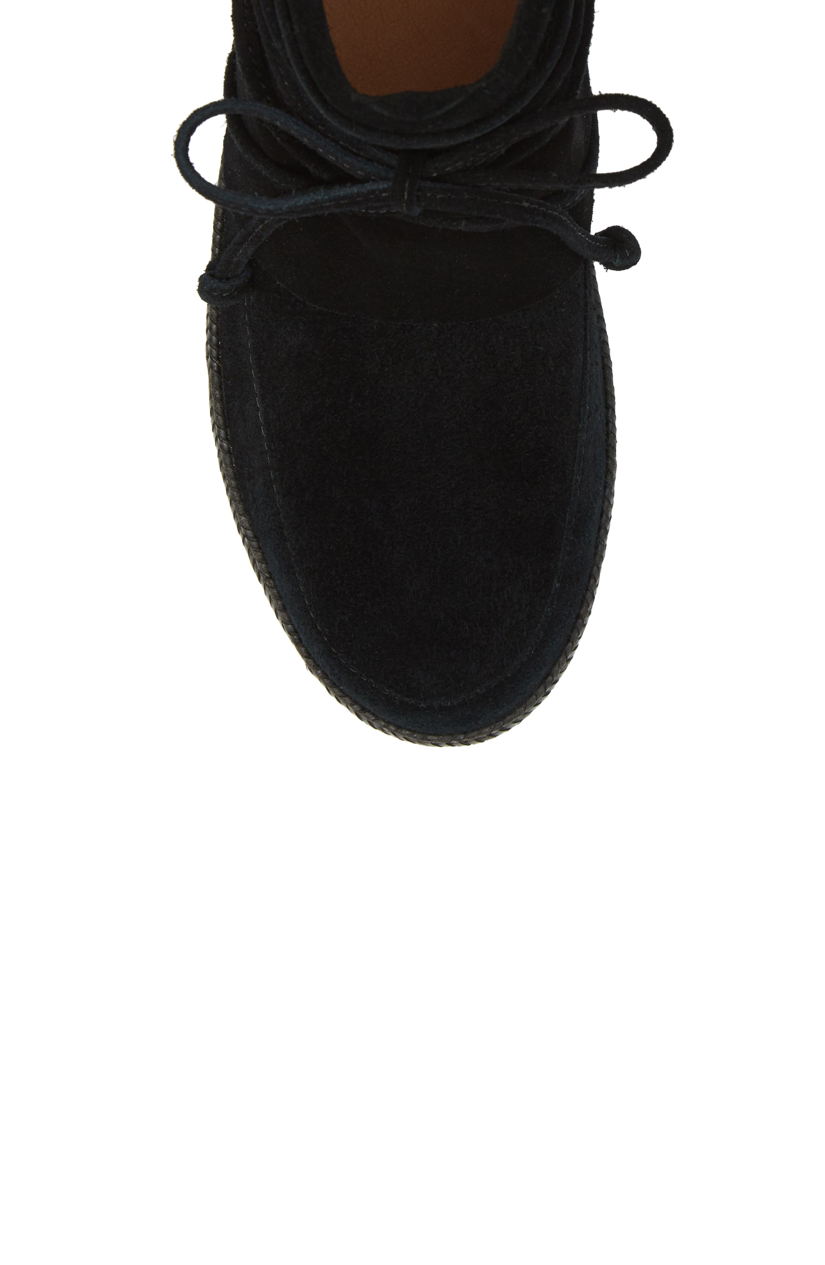 UGG<SUP>®</SUP>, Reid Boot, Alternate thumbnail 5, color, BLACK SUEDE