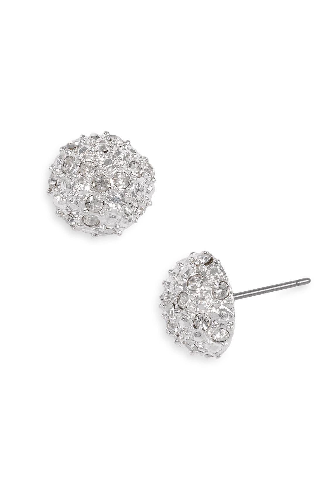 BP. Rachel Stone Dome Stud Earrings, Main, color, 040