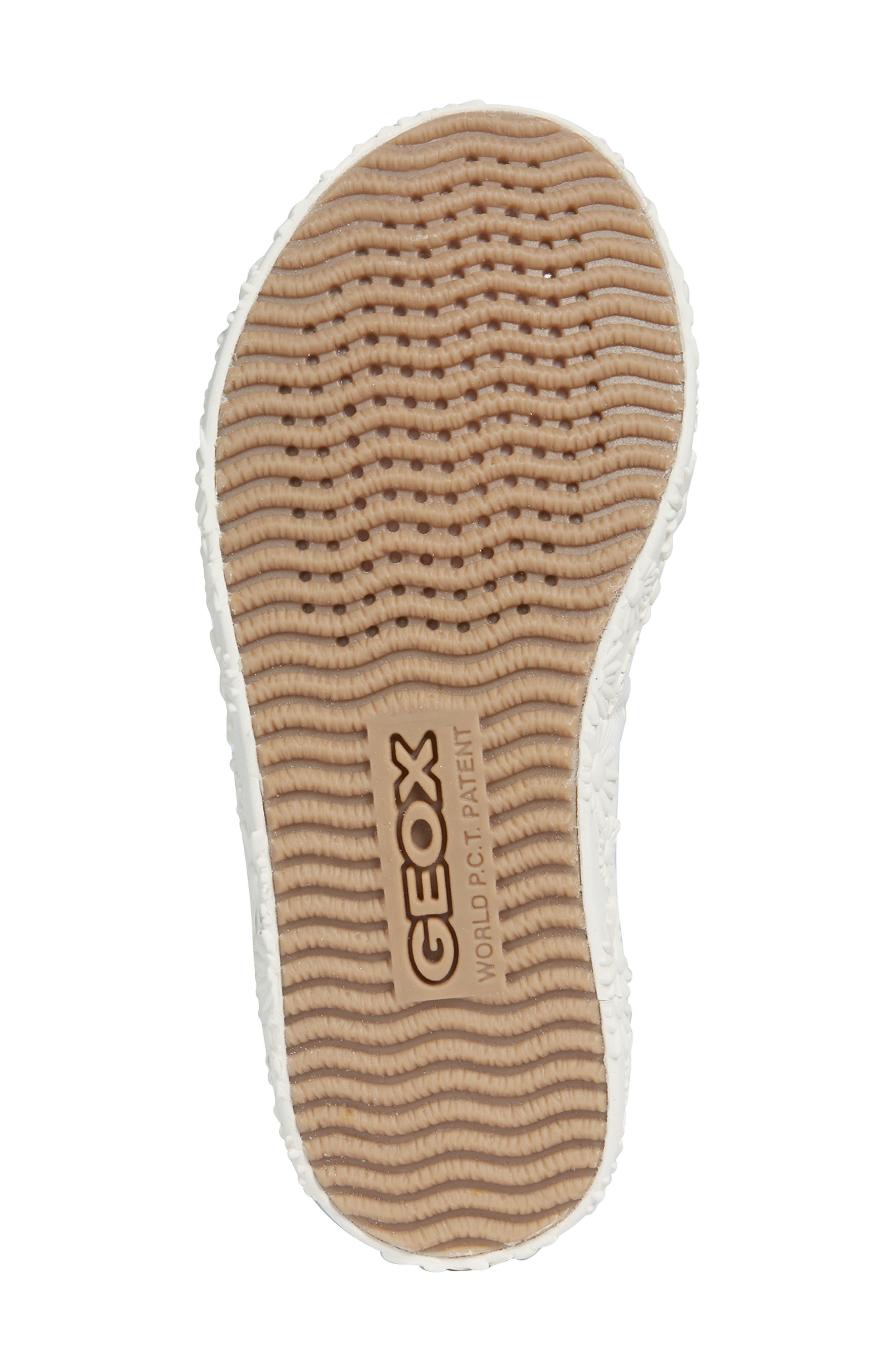 GEOX, Kilwi Daisy Mary Jane Sneaker, Alternate thumbnail 6, color, WHITE