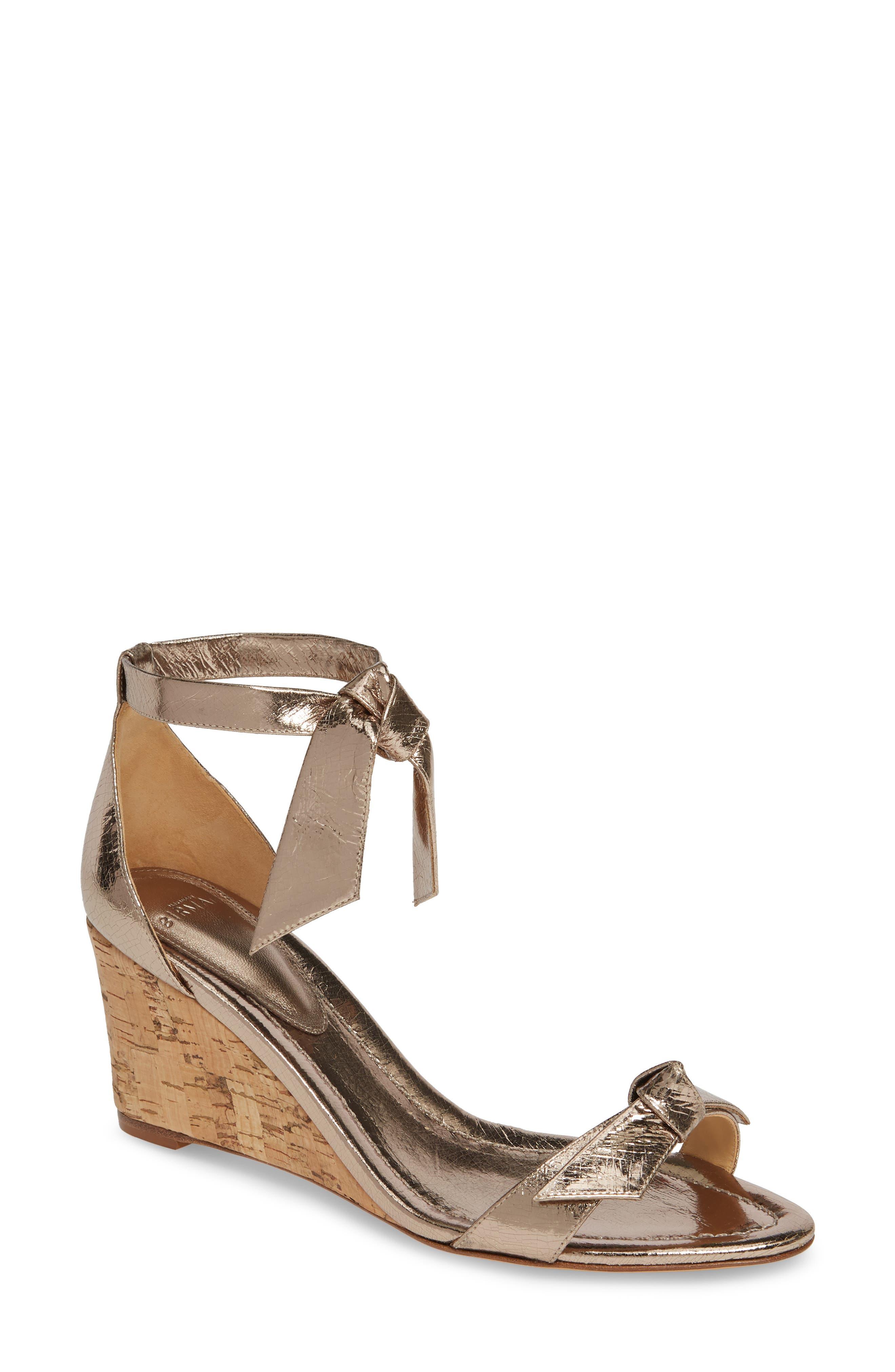 ALEXANDRE BIRMAN Clarita Wedge Sandal, Main, color, LUNA/ NATURAL