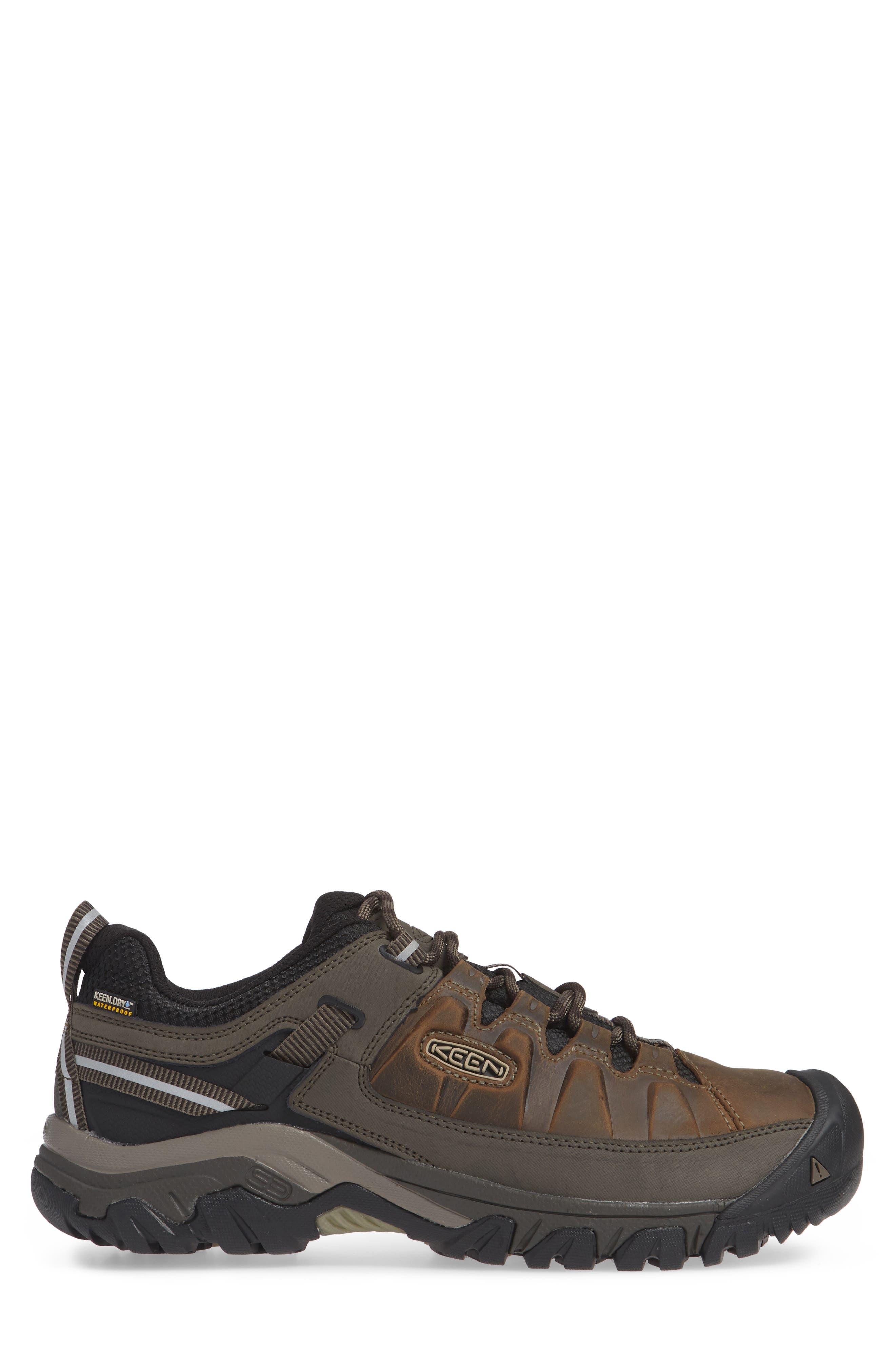 KEEN, Targhee III Waterproof Wide Hiking Shoe, Alternate thumbnail 3, color, BUNGEE CORD/ BLACK