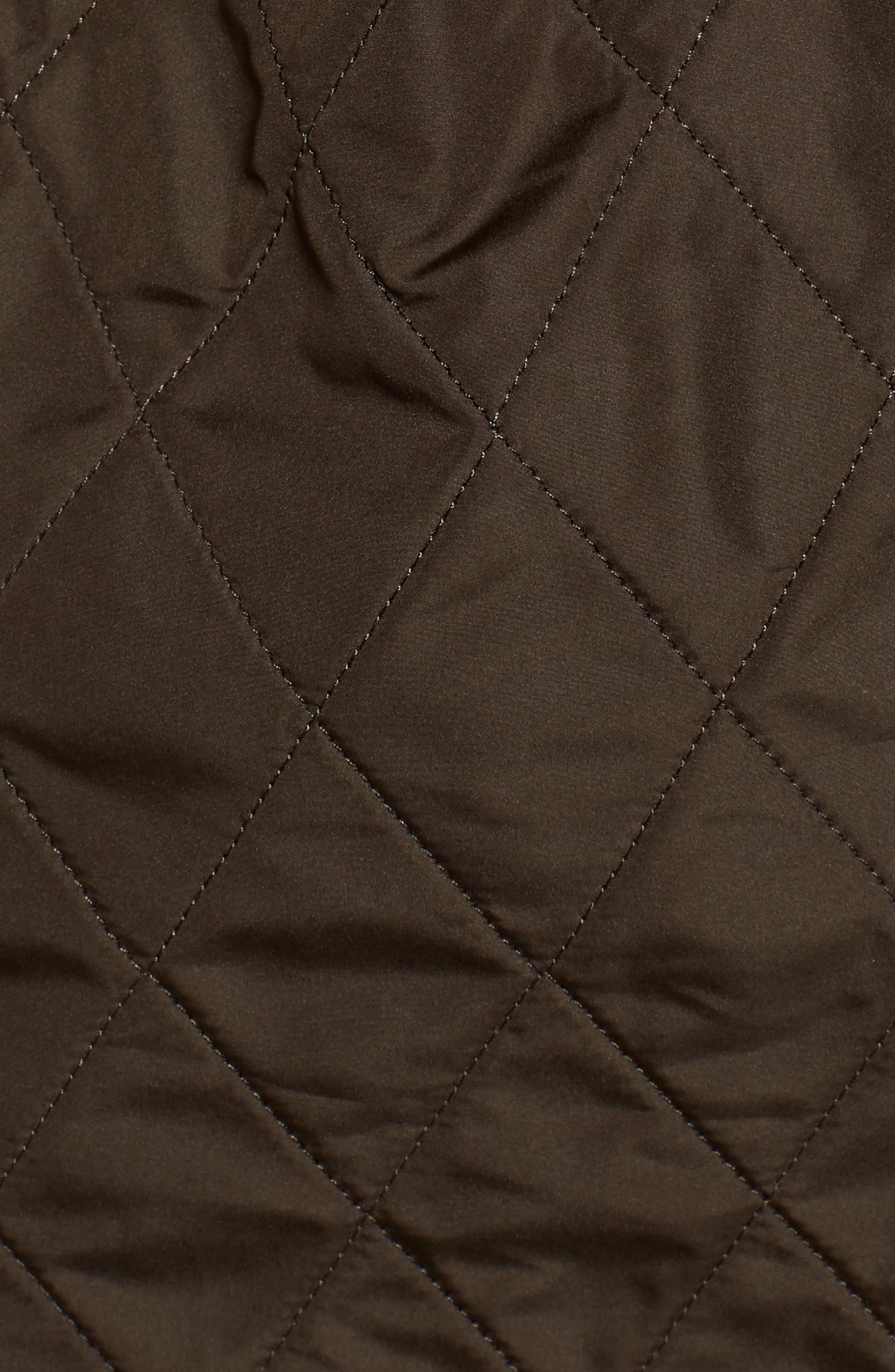 BARBOUR, 'Arrow' Quilted Anorak, Alternate thumbnail 7, color, 340