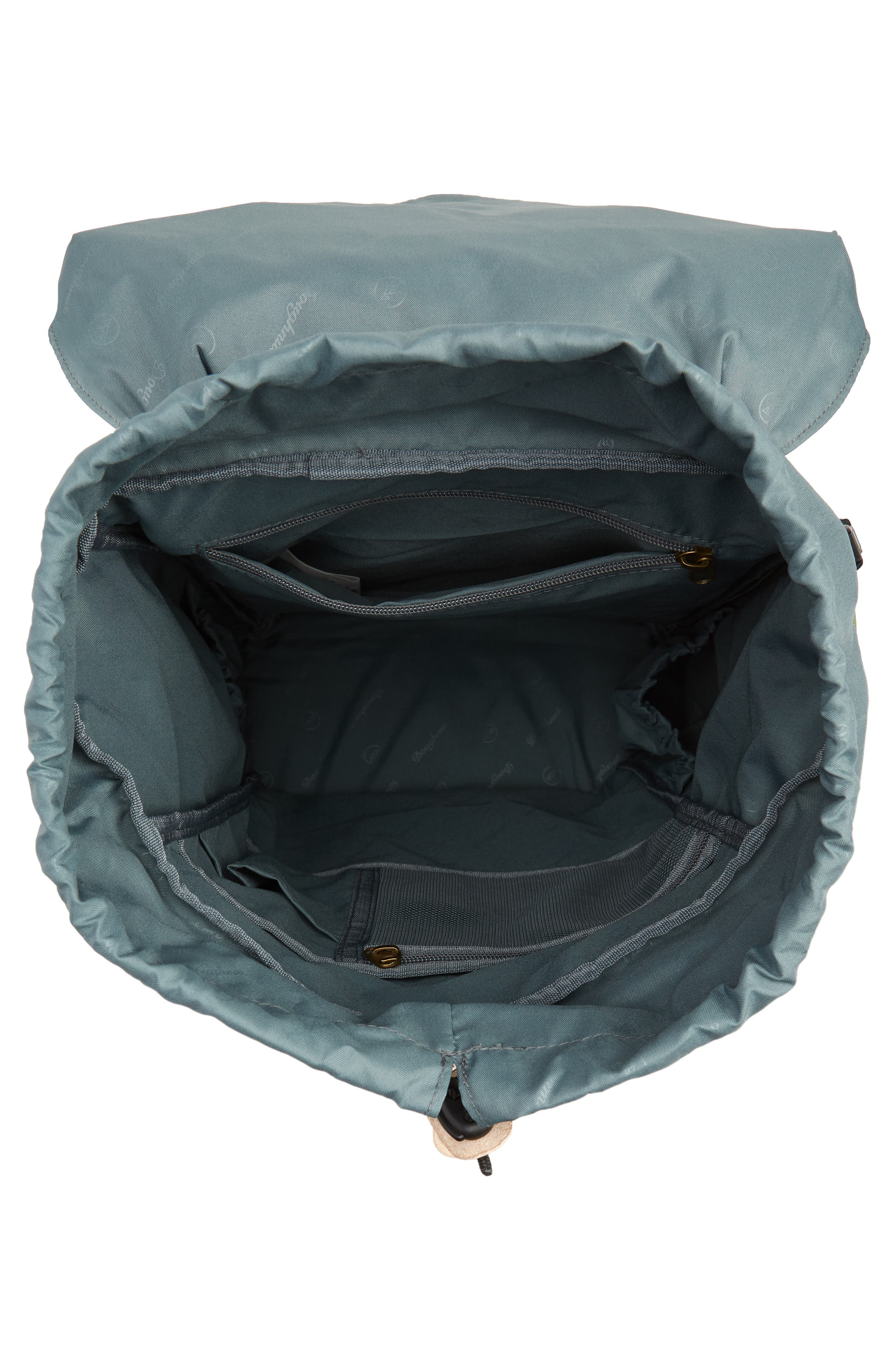 DOUGHNUT, Heritage Water Repellent Backpack, Alternate thumbnail 4, color, ARMY