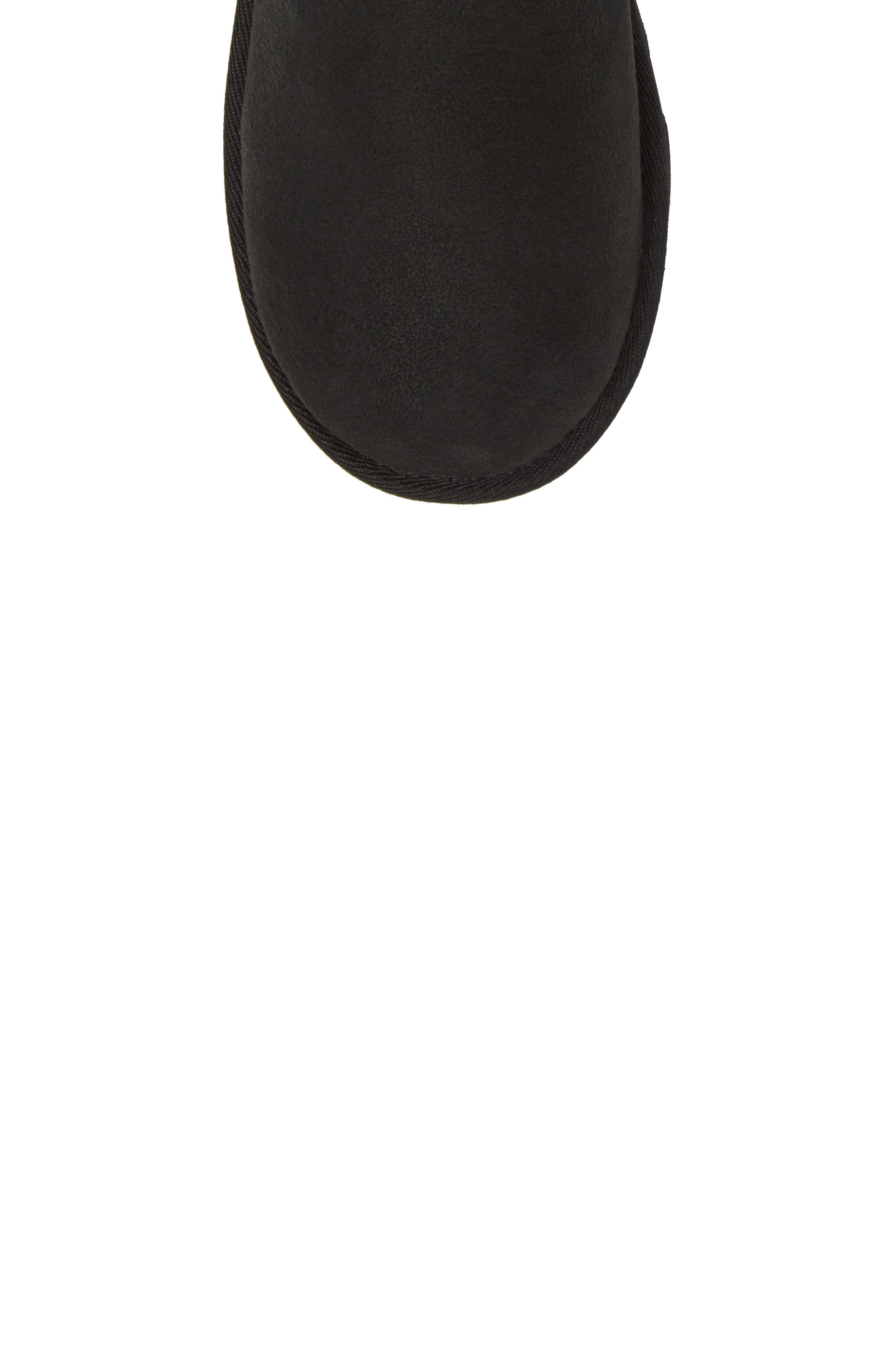 UGG<SUP>®</SUP>, Classic Short II Water Resistant Genuine Shearling Boot, Alternate thumbnail 5, color, BLACK