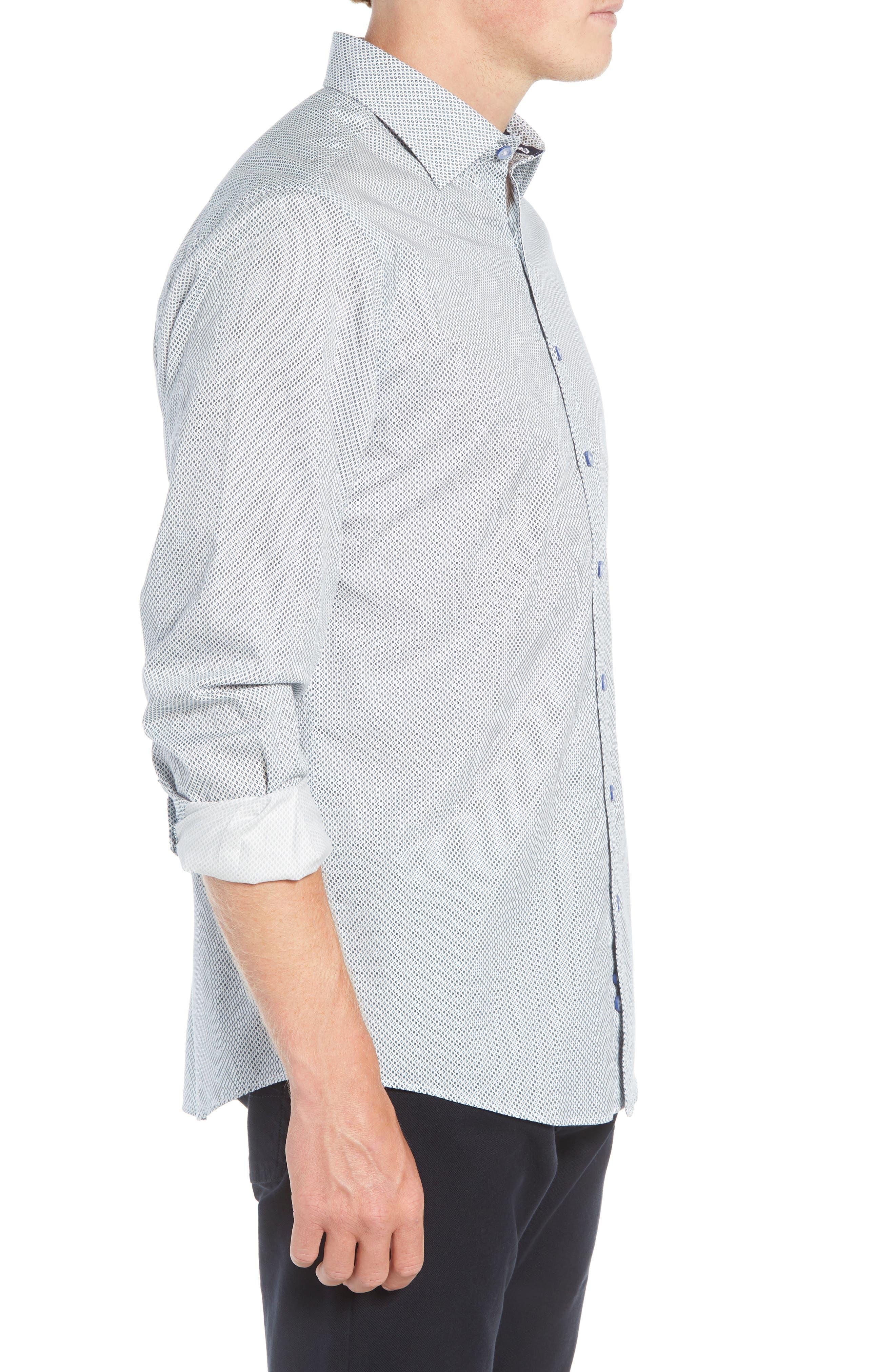 RODD & GUNN, Helston Way Regular Fit Sport Shirt, Alternate thumbnail 4, color, SNOW