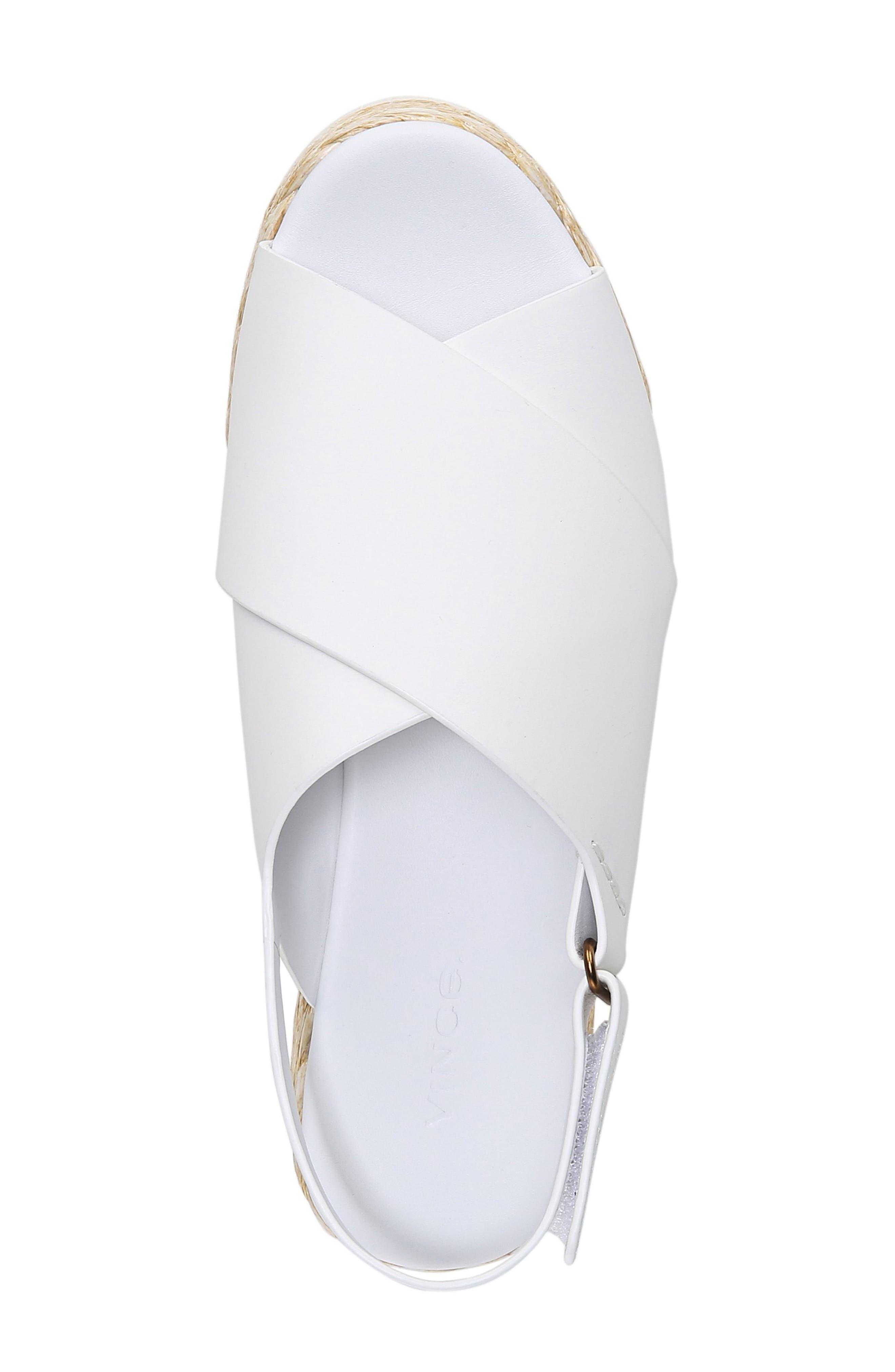 VINCE, Jesson Espadrille Slingback Sandal, Alternate thumbnail 5, color, OFF WHITE