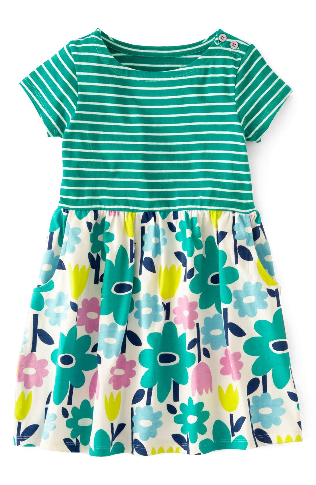 MINI BODEN, 'Hotchpotch' Jersey Dress, Main thumbnail 1, color, 304