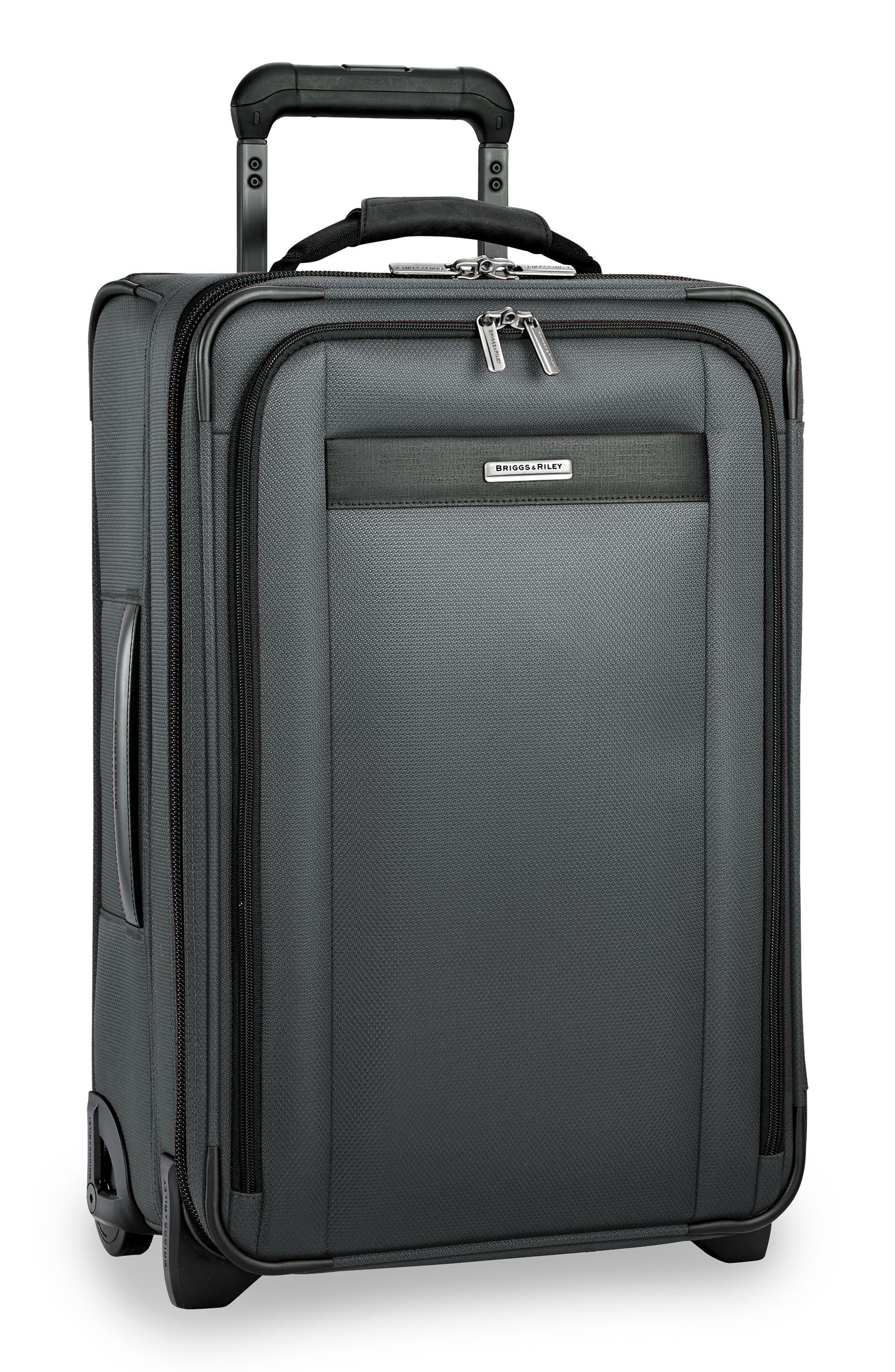 BRIGGS & RILEY, Transcend 400 22-Inch Wheeled Carry-On, Alternate thumbnail 3, color, SLATE GREY