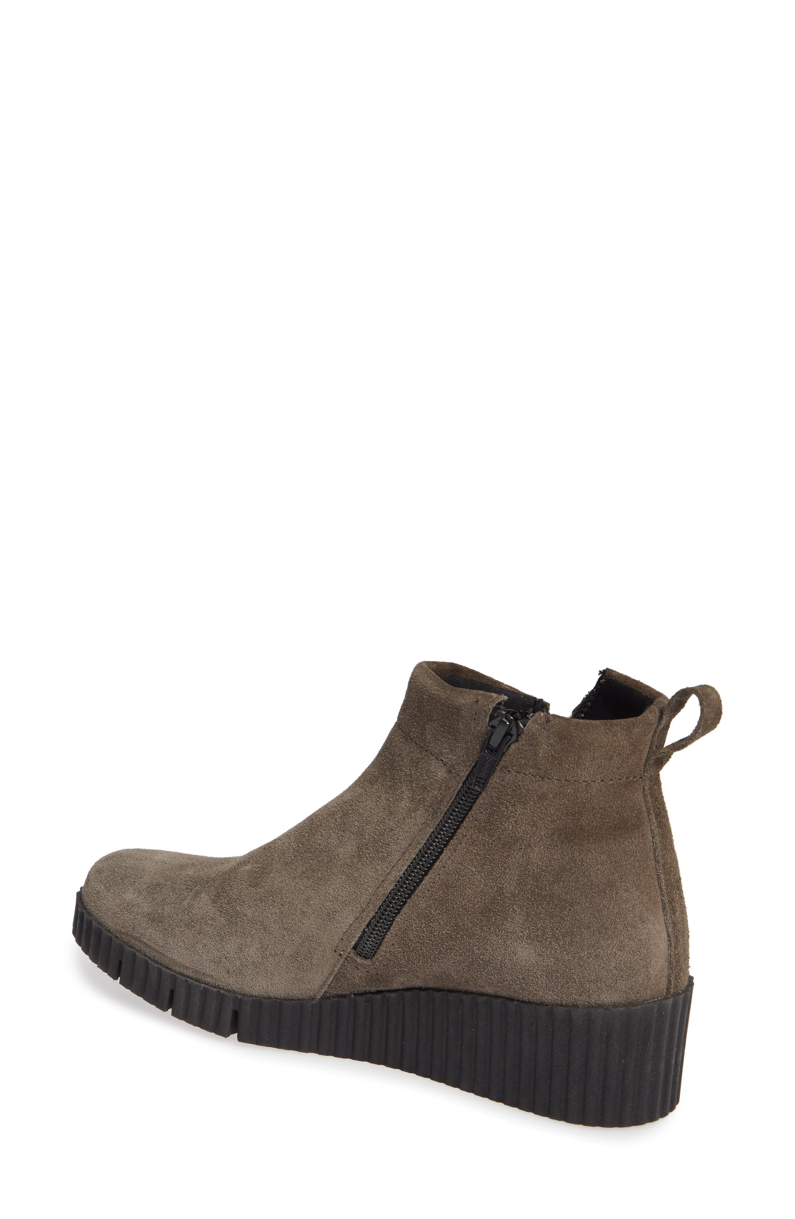 THE FLEXX, Easy Does It Wedge Bootie, Alternate thumbnail 2, color, BROWN SUEDE