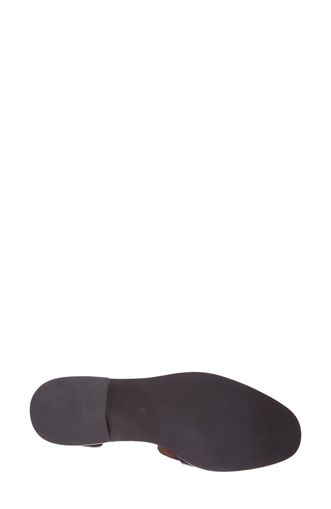 JEFFREY CAMPBELL, 'Open Case' Tasseled Leather Flat, Alternate thumbnail 2, color, 001