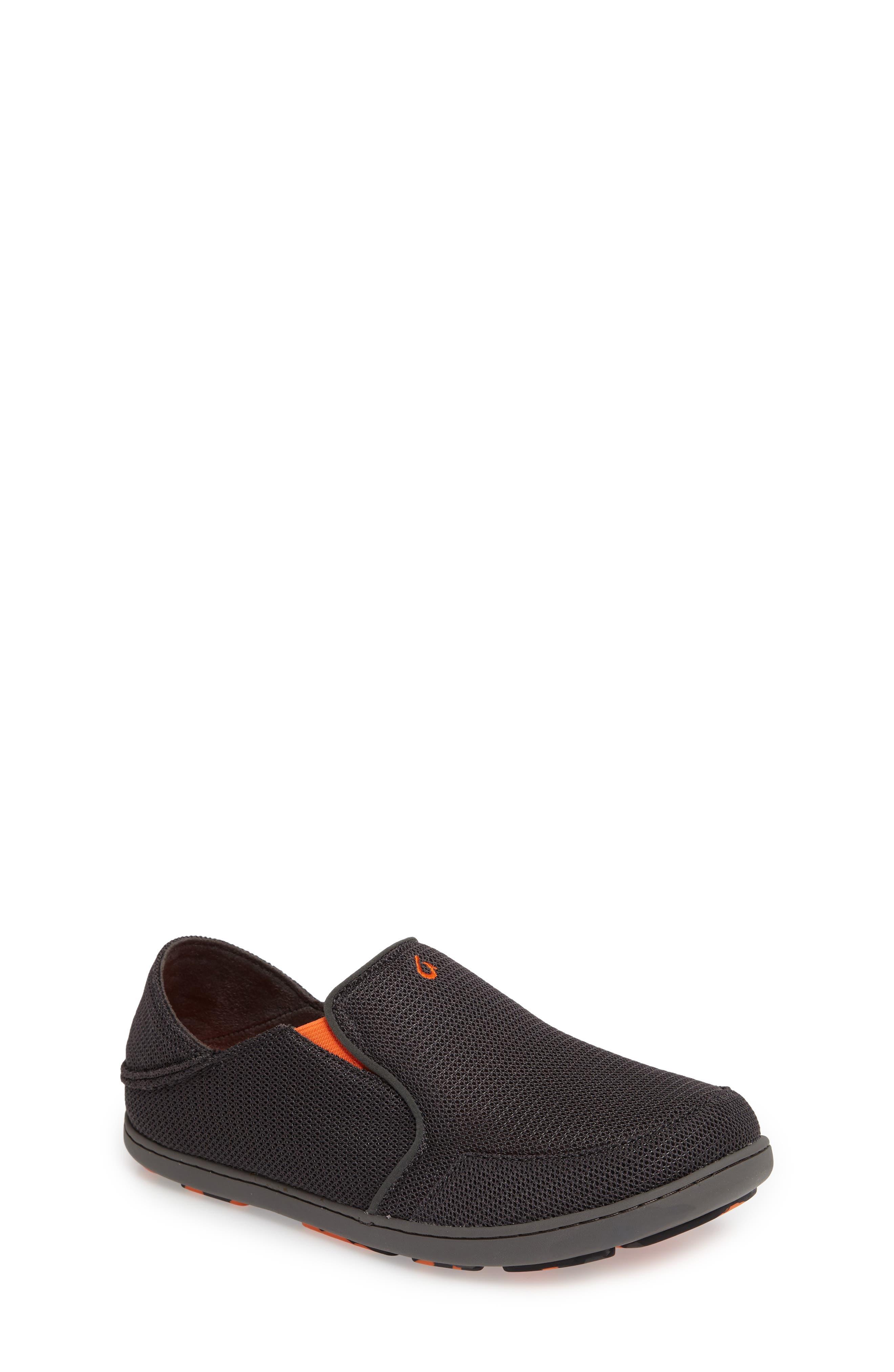 OLUKAI 'Nohea' Mesh Shoe, Main, color, DARK SHADOW/ BLAZE