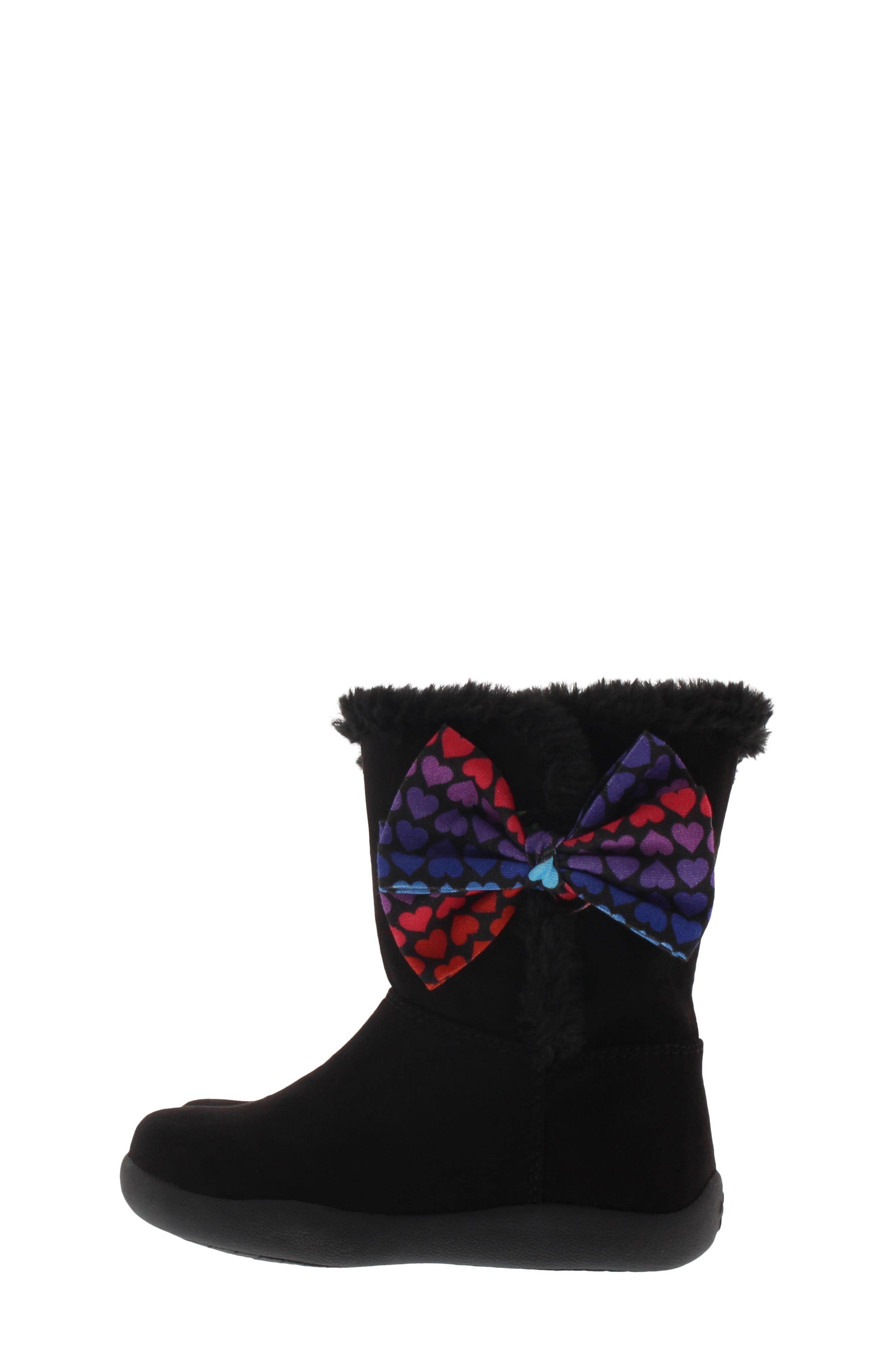 CHOOZE, Wish Faux Fur Lined Boot, Alternate thumbnail 7, color, BLACK