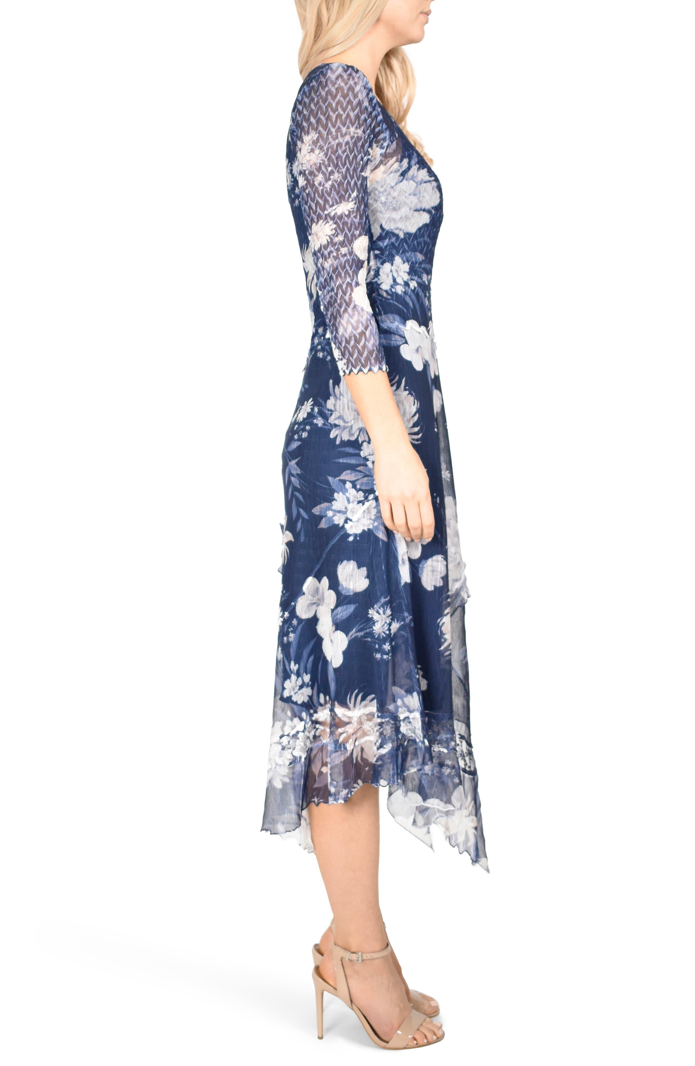 KOMAROV, Handkerchief Hem Dress, Alternate thumbnail 4, color, 400