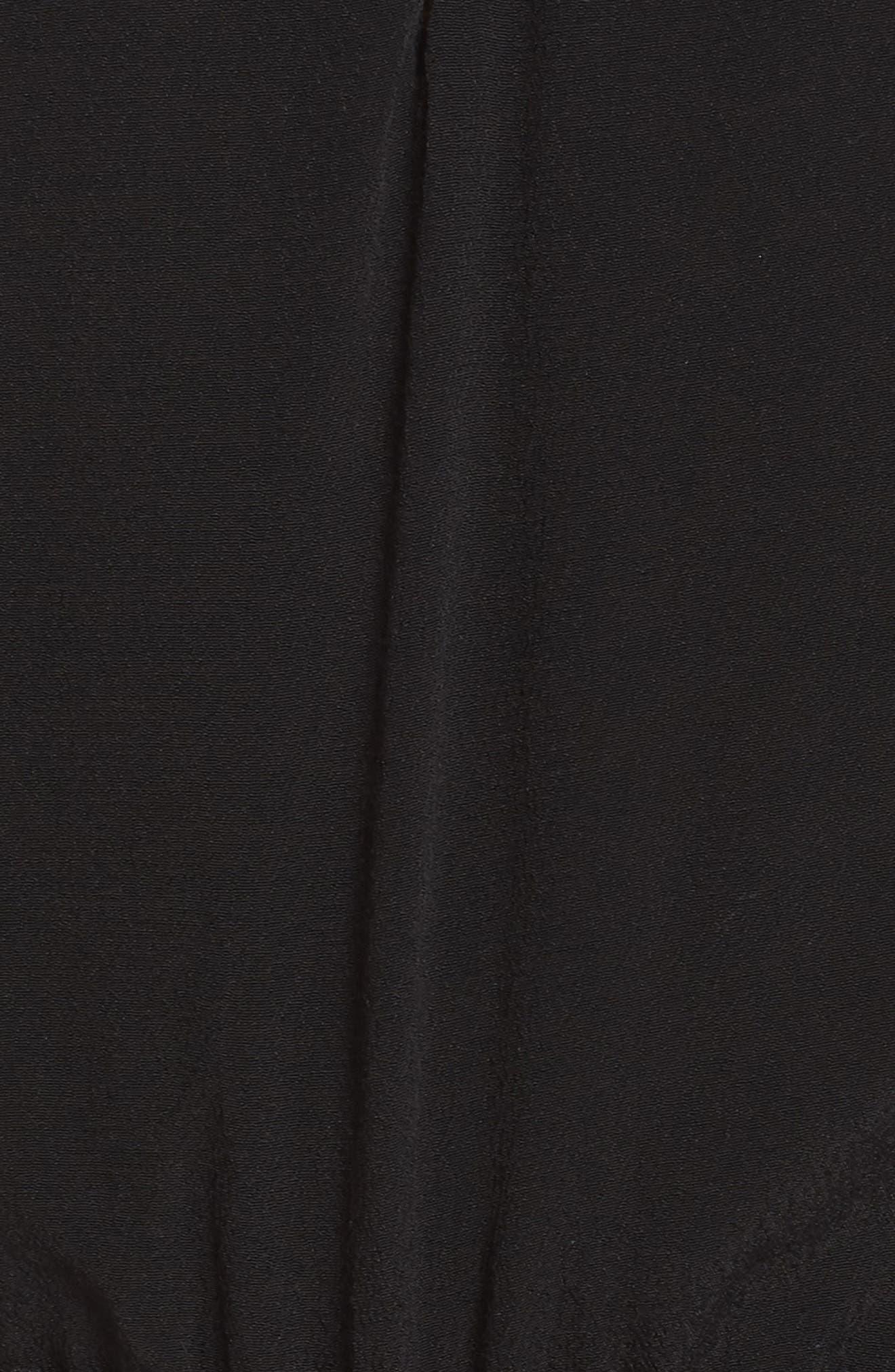 FRAICHE BY J, Lace Inset Romper, Alternate thumbnail 6, color, BLACK
