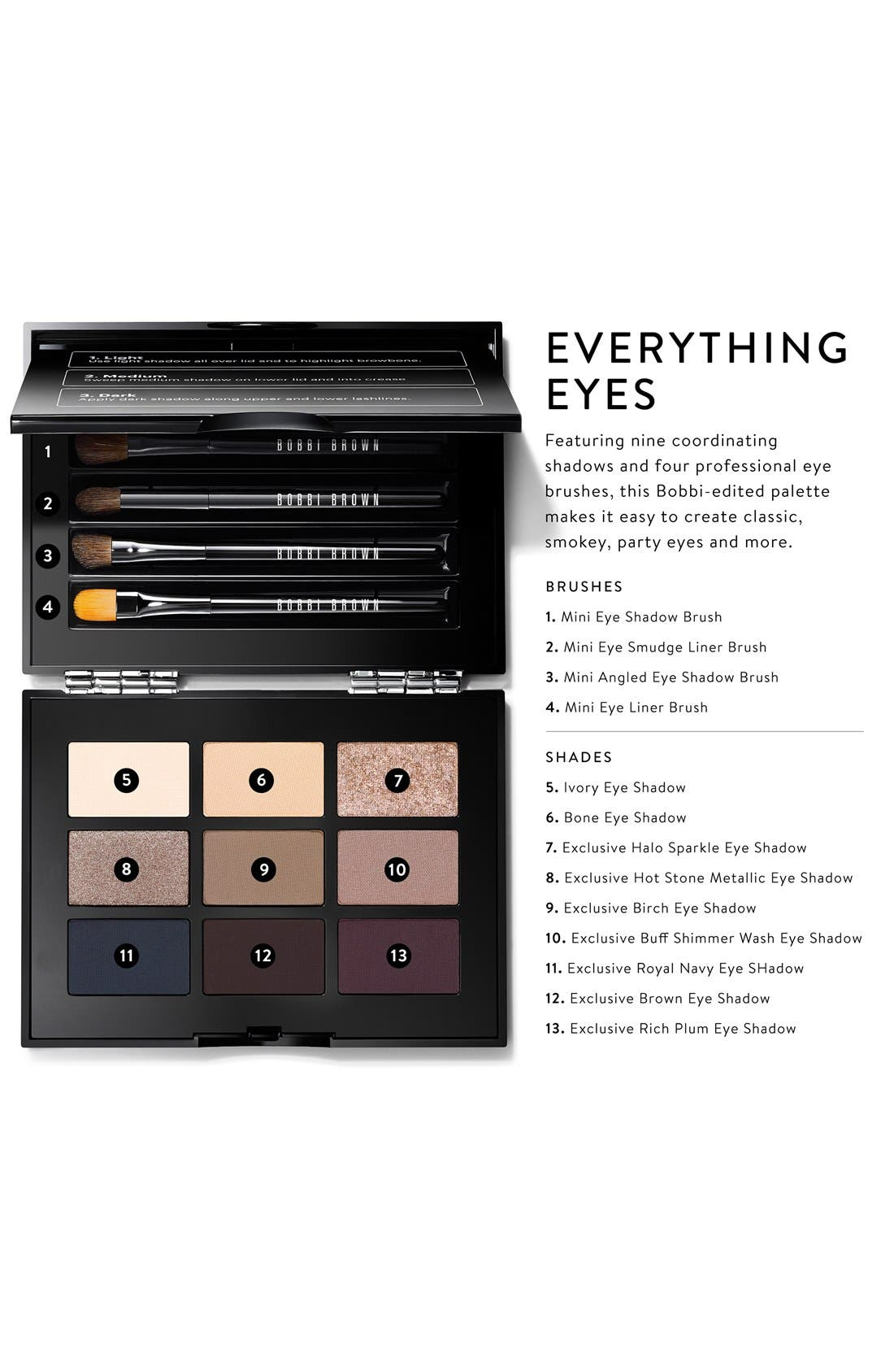 BOBBI BROWN, 'Everything Eyes' Palette, Alternate thumbnail 5, color, 000